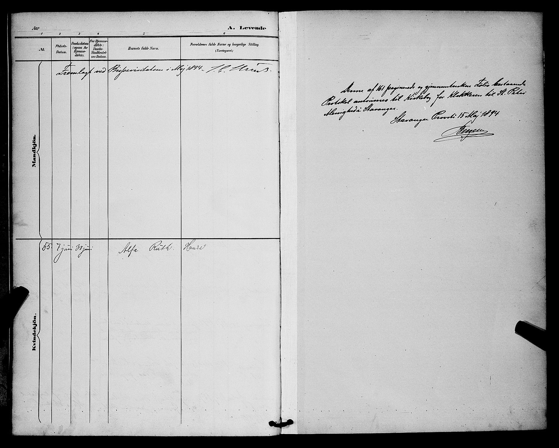 SAST, St. Petri sokneprestkontor, 30/30BB/L0006: Klokkerbok nr. B 6, 1890-1897