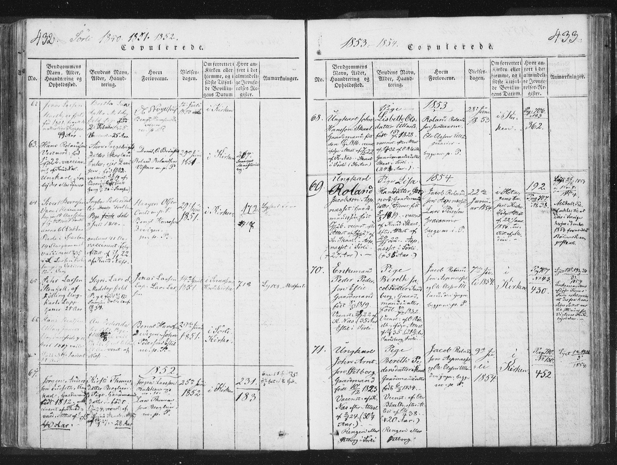 SAT, Ministerialprotokoller, klokkerbøker og fødselsregistre - Nord-Trøndelag, 755/L0491: Ministerialbok nr. 755A01 /2, 1817-1864, s. 432-433