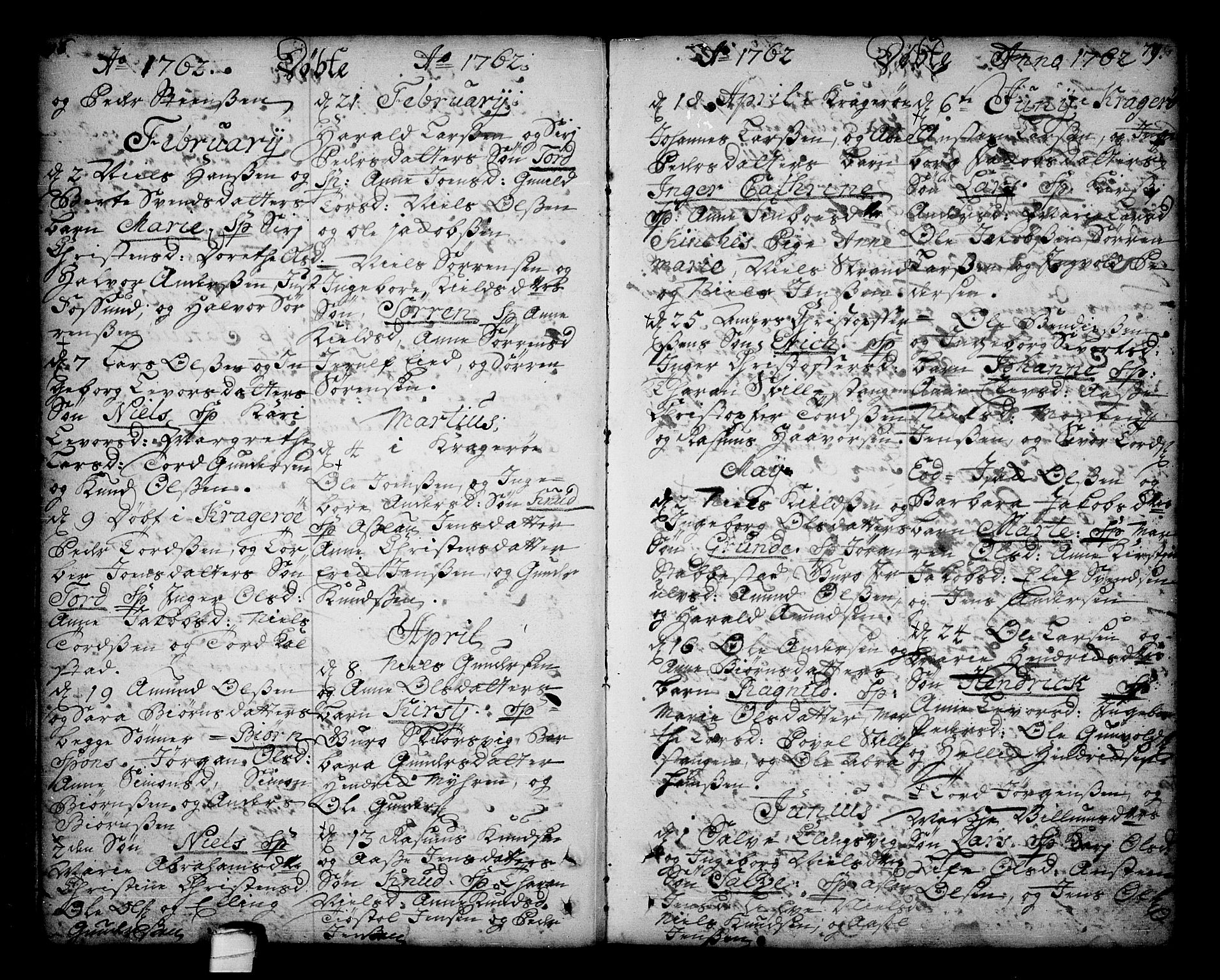 SAKO, Sannidal kirkebøker, F/Fa/L0001: Ministerialbok nr. 1, 1702-1766, s. 78-79