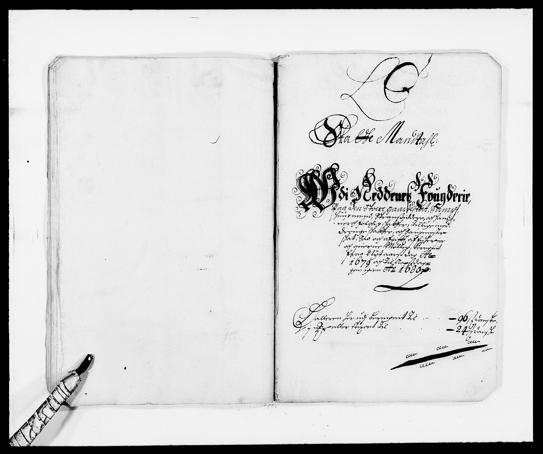 RA, Rentekammeret inntil 1814, Reviderte regnskaper, Fogderegnskap, R39/L2303: Fogderegnskap Nedenes, 1679, s. 47
