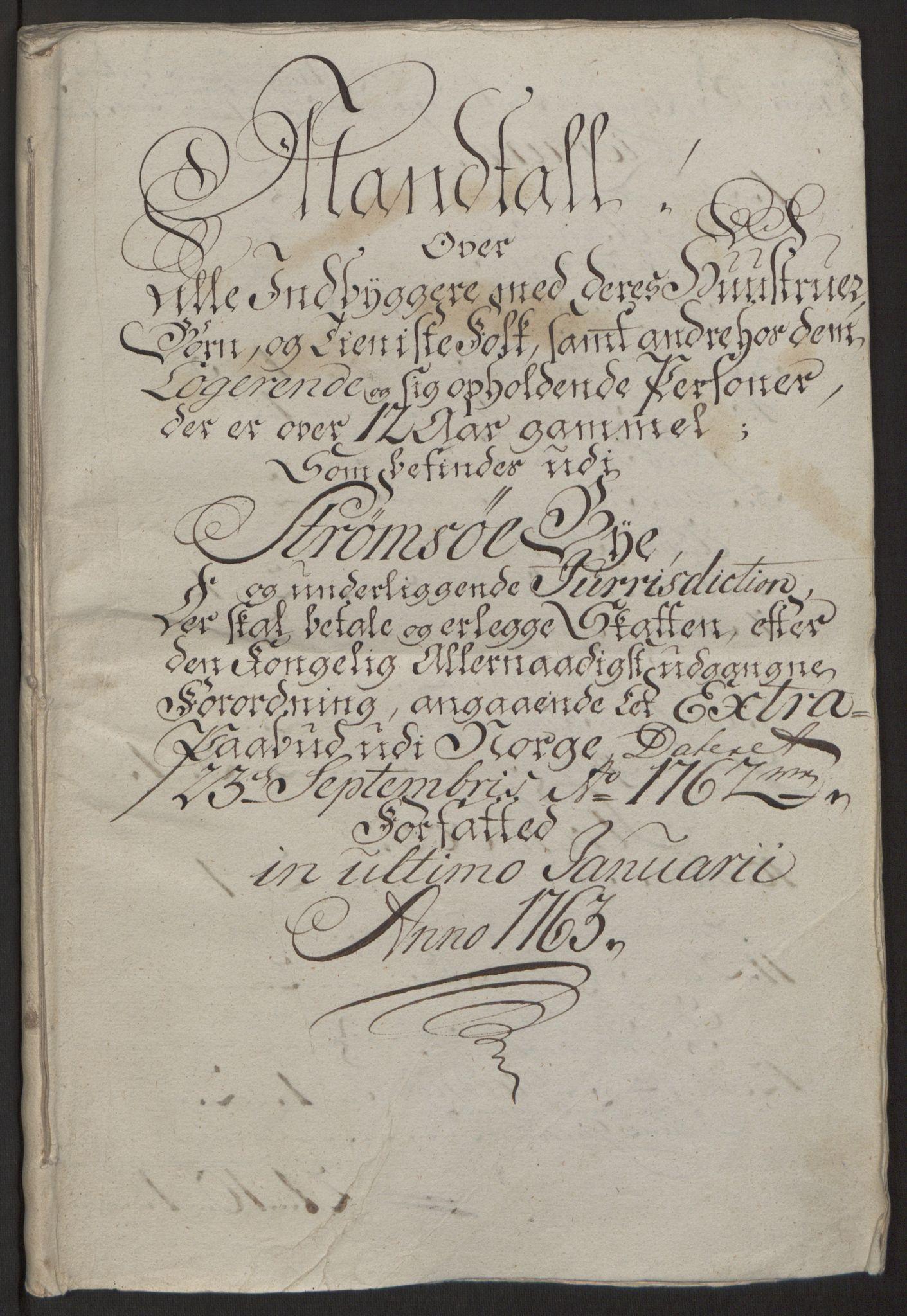RA, Rentekammeret inntil 1814, Reviderte regnskaper, Byregnskaper, R/Rg/L0144: [G4] Kontribusjonsregnskap, 1762-1767, s. 81