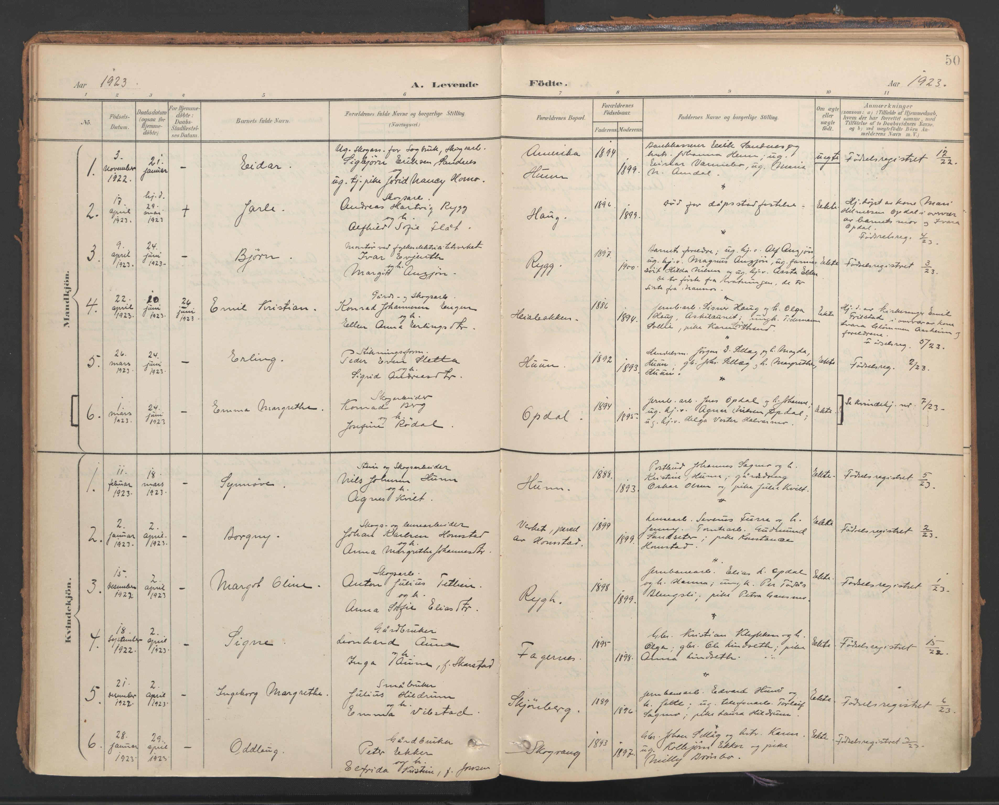 SAT, Ministerialprotokoller, klokkerbøker og fødselsregistre - Nord-Trøndelag, 766/L0564: Ministerialbok nr. 767A02, 1900-1932, s. 50
