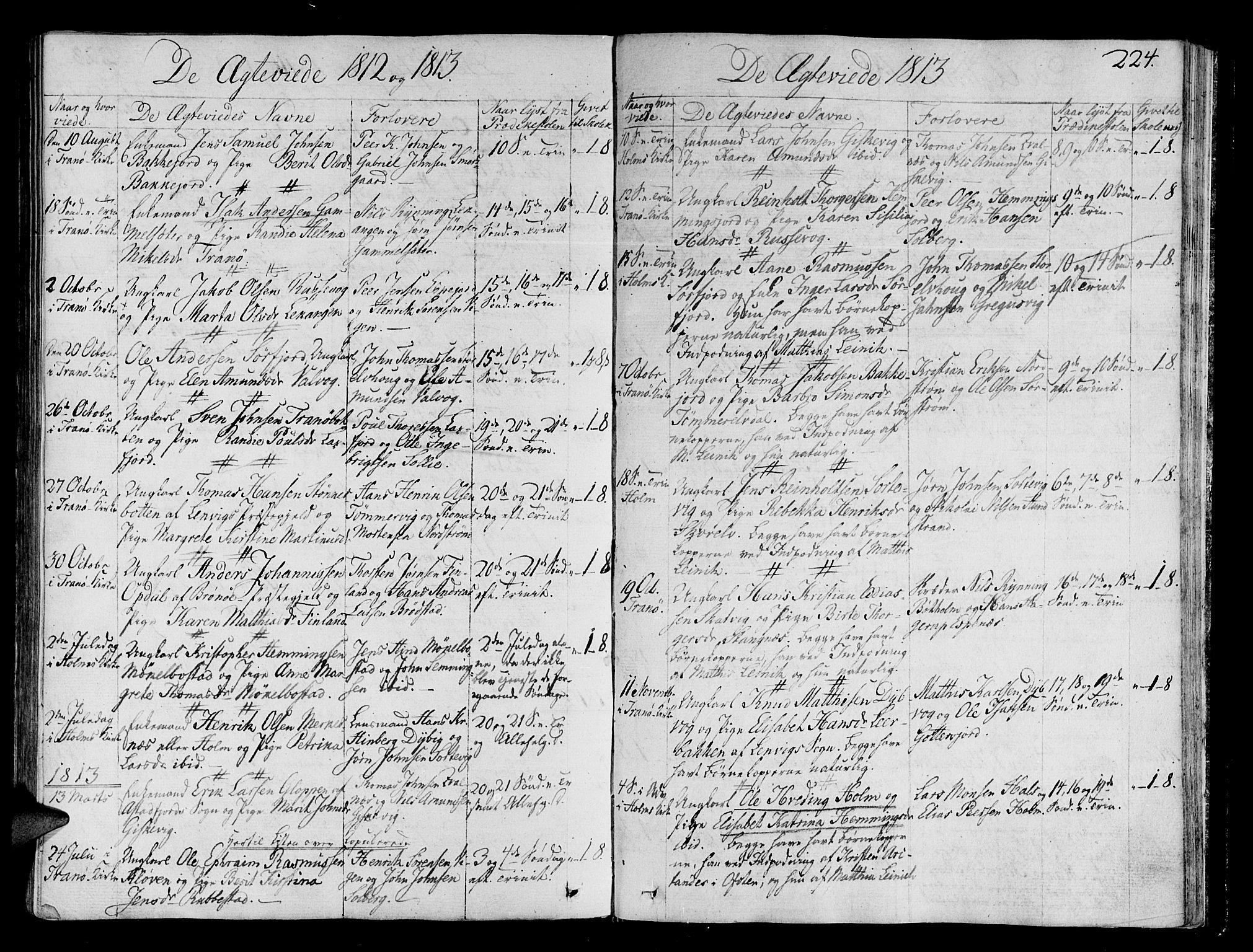 SATØ, Tranøy sokneprestkontor, I/Ia/Iaa/L0003kirke: Ministerialbok nr. 3, 1807-1820, s. 224