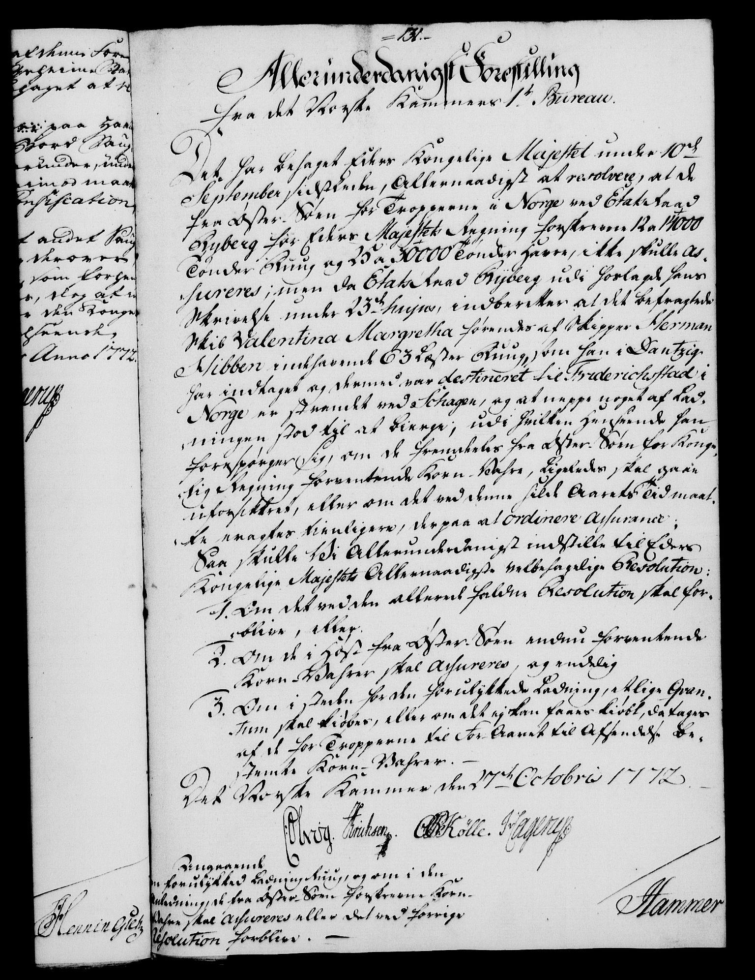 RA, Rentekammeret, Kammerkanselliet, G/Gf/Gfa/L0054: Norsk relasjons- og resolusjonsprotokoll (merket RK 52.54), 1771-1772, s. 701