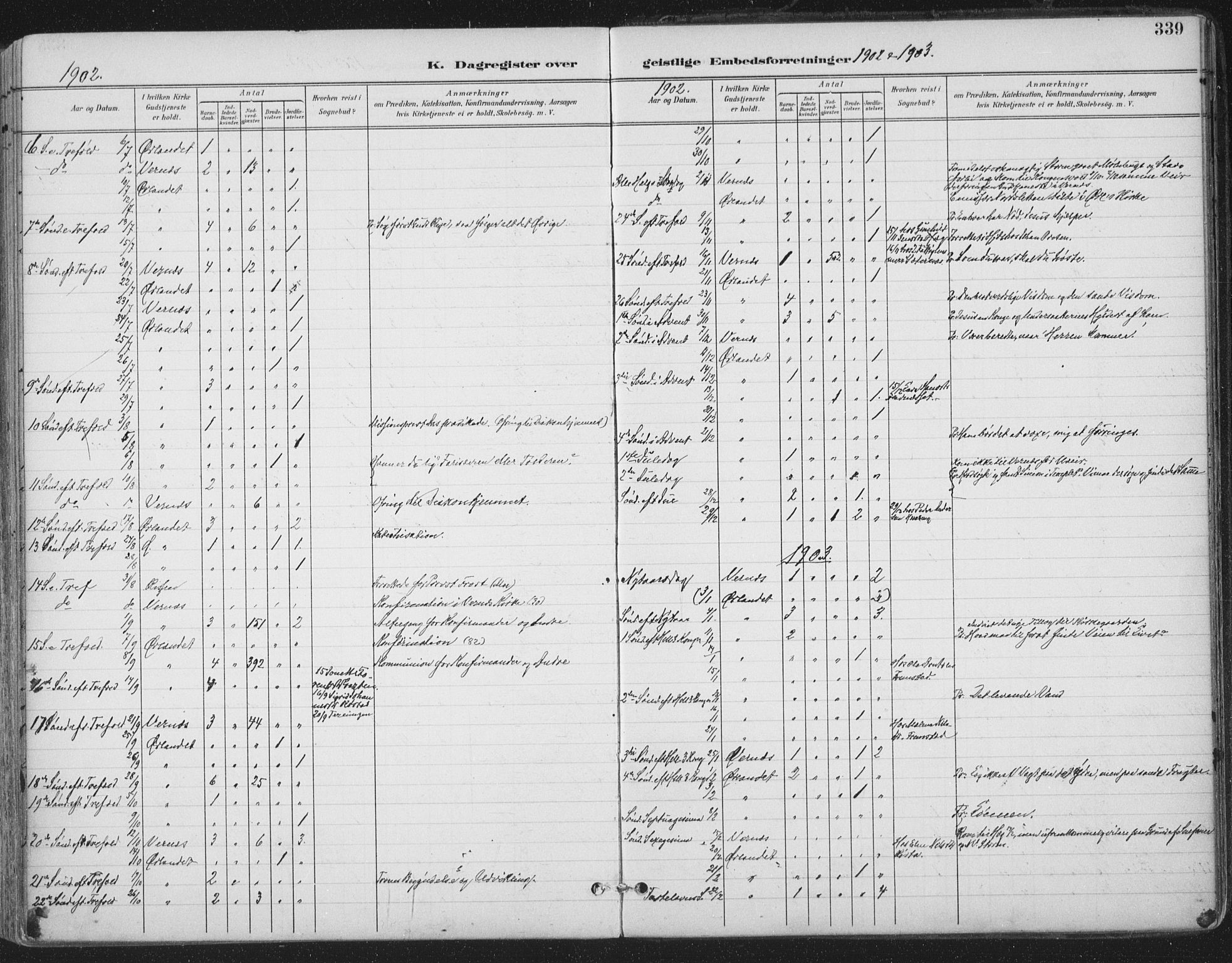 SAT, Ministerialprotokoller, klokkerbøker og fødselsregistre - Sør-Trøndelag, 659/L0743: Ministerialbok nr. 659A13, 1893-1910, s. 339