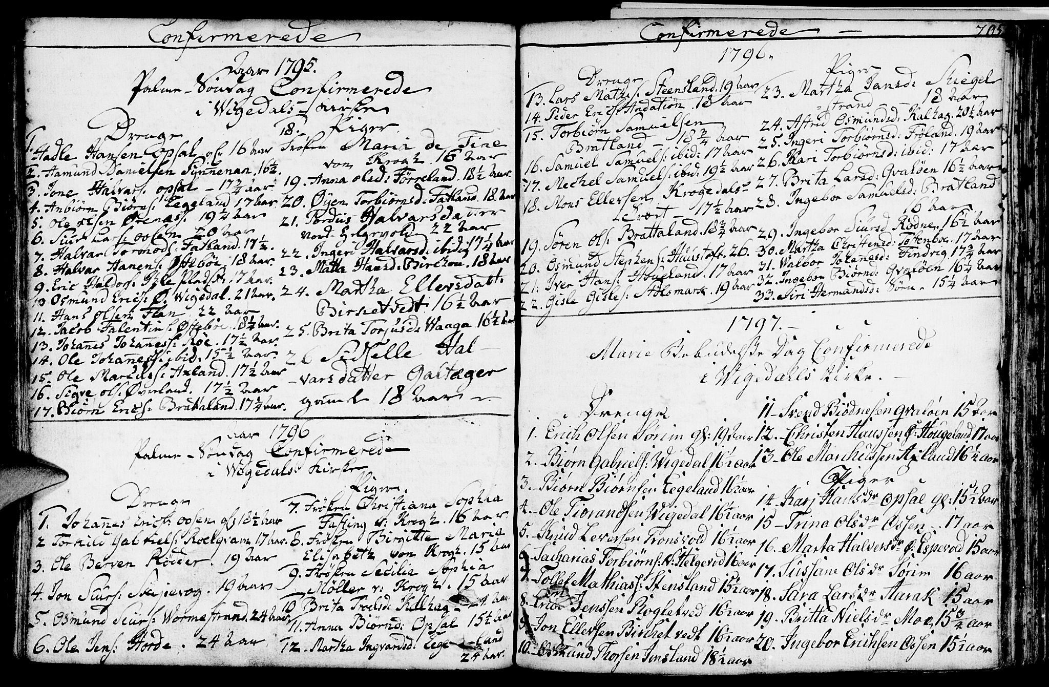 SAST, Vikedal sokneprestkontor, IV: Ministerialbok nr. A 2, 1779-1817, s. 205