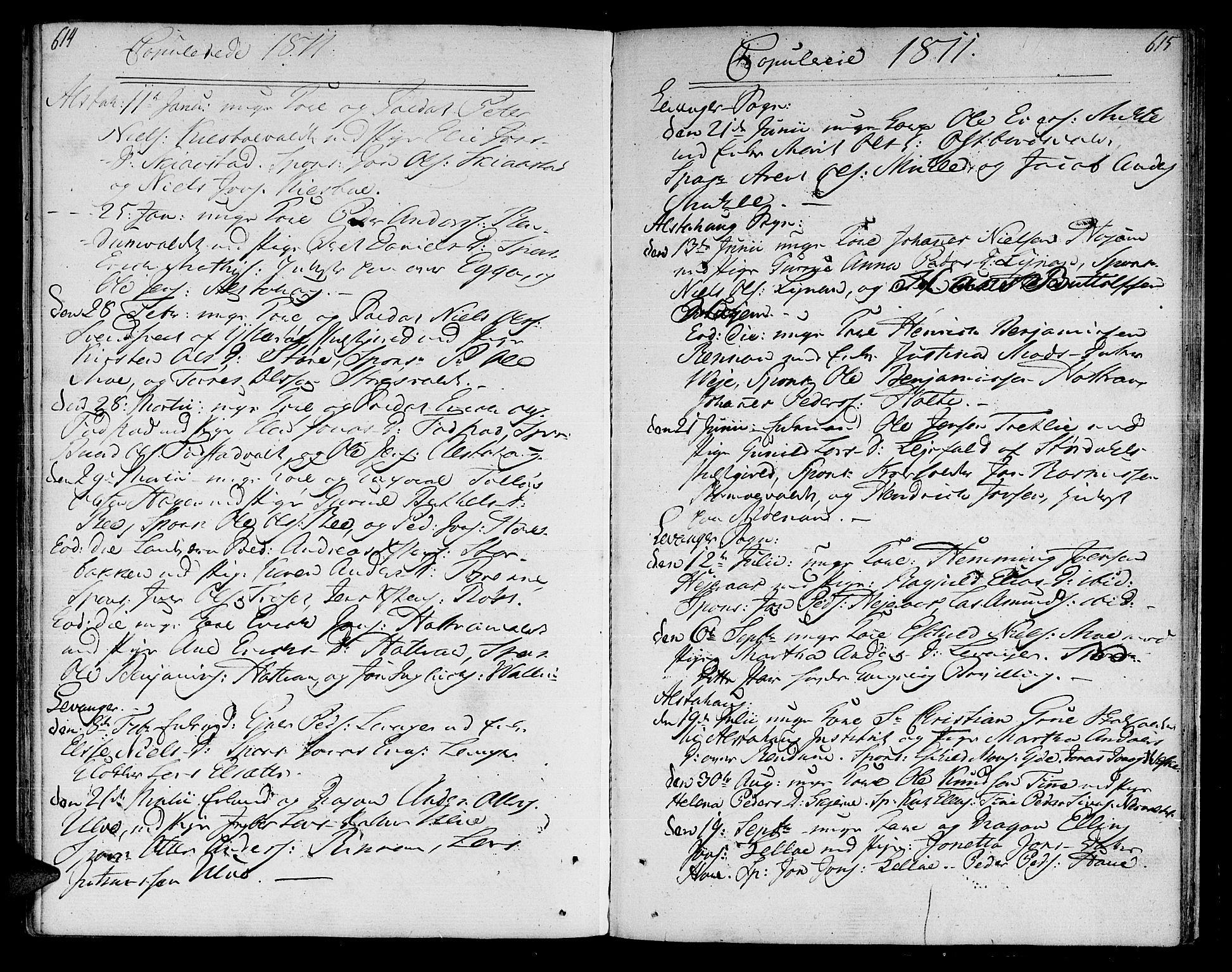 SAT, Ministerialprotokoller, klokkerbøker og fødselsregistre - Nord-Trøndelag, 717/L0145: Ministerialbok nr. 717A03 /1, 1810-1815, s. 614-615