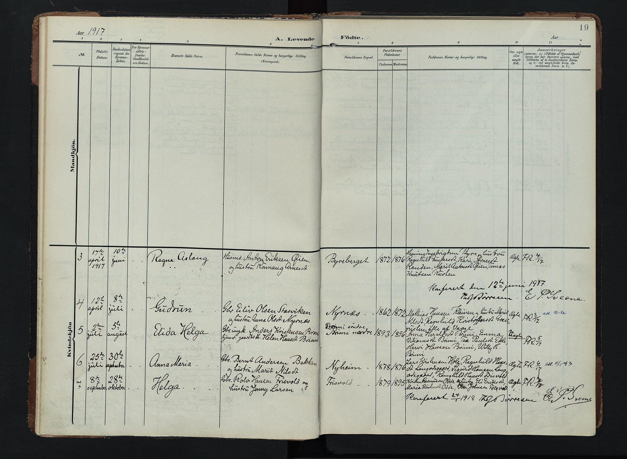 SAH, Lom prestekontor, K/L0011: Ministerialbok nr. 11, 1904-1928, s. 19