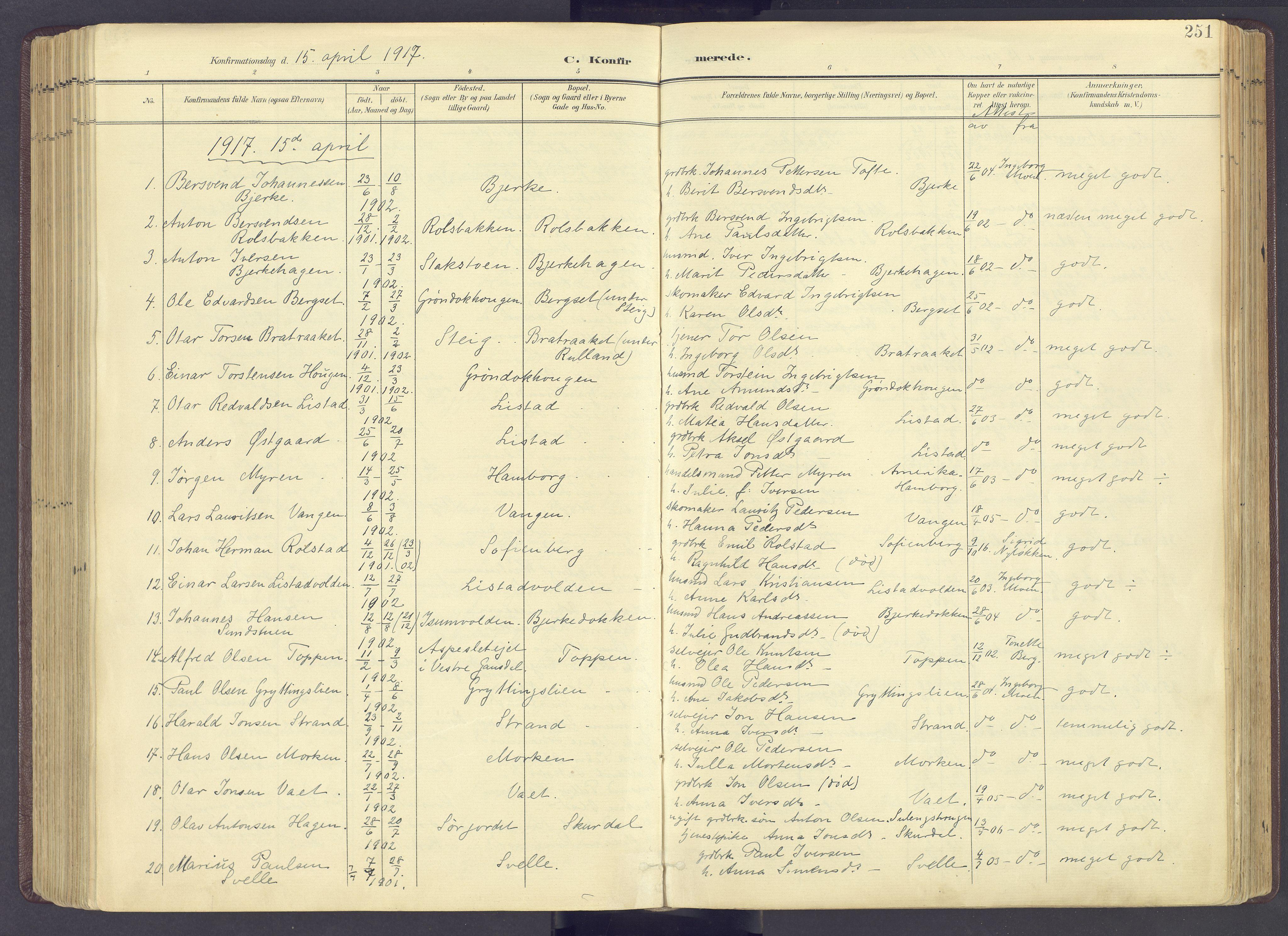 SAH, Sør-Fron prestekontor, H/Ha/Haa/L0004: Ministerialbok nr. 4, 1898-1919, s. 251