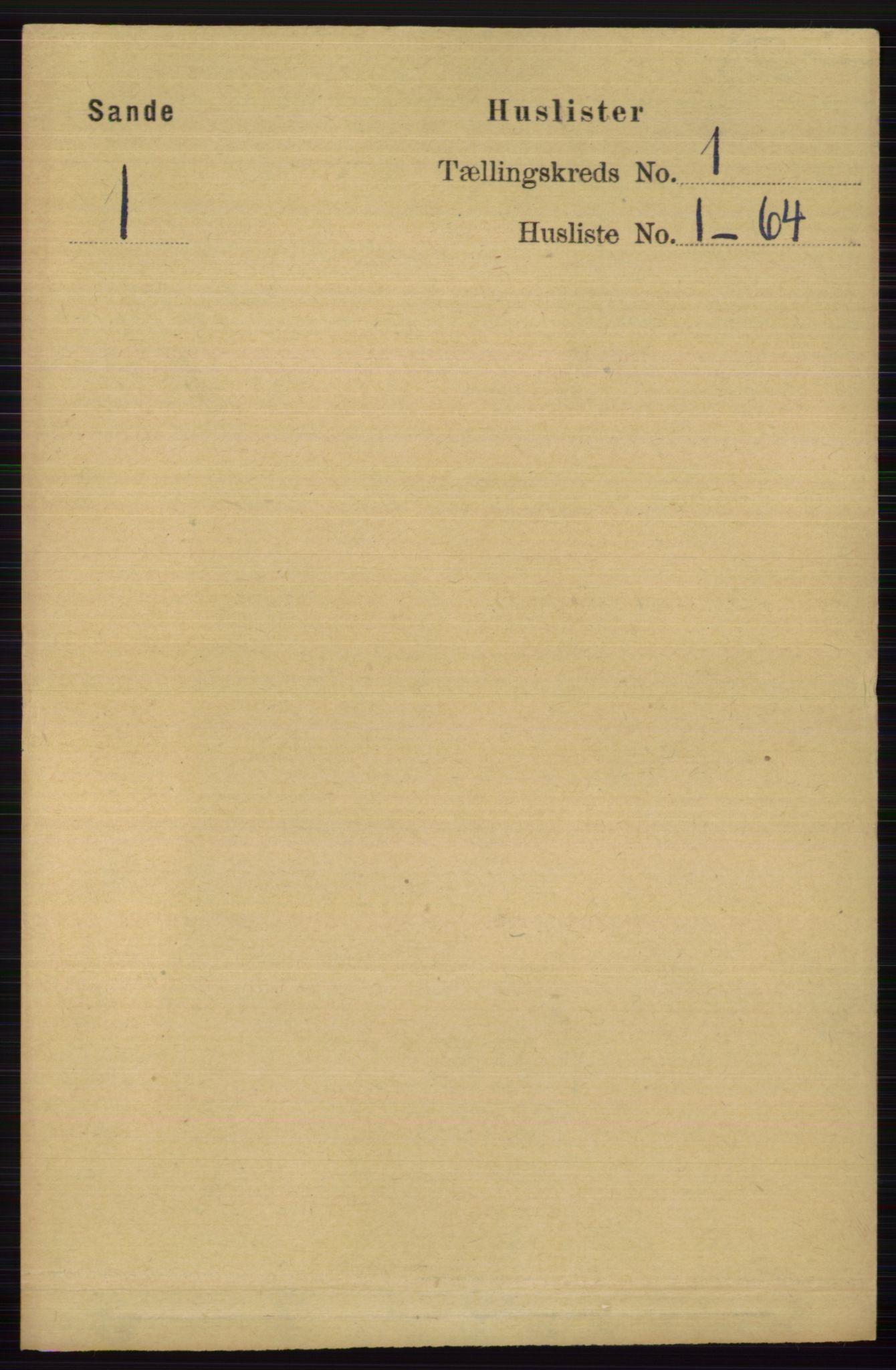 RA, Folketelling 1891 for 0713 Sande herred, 1891, s. 23