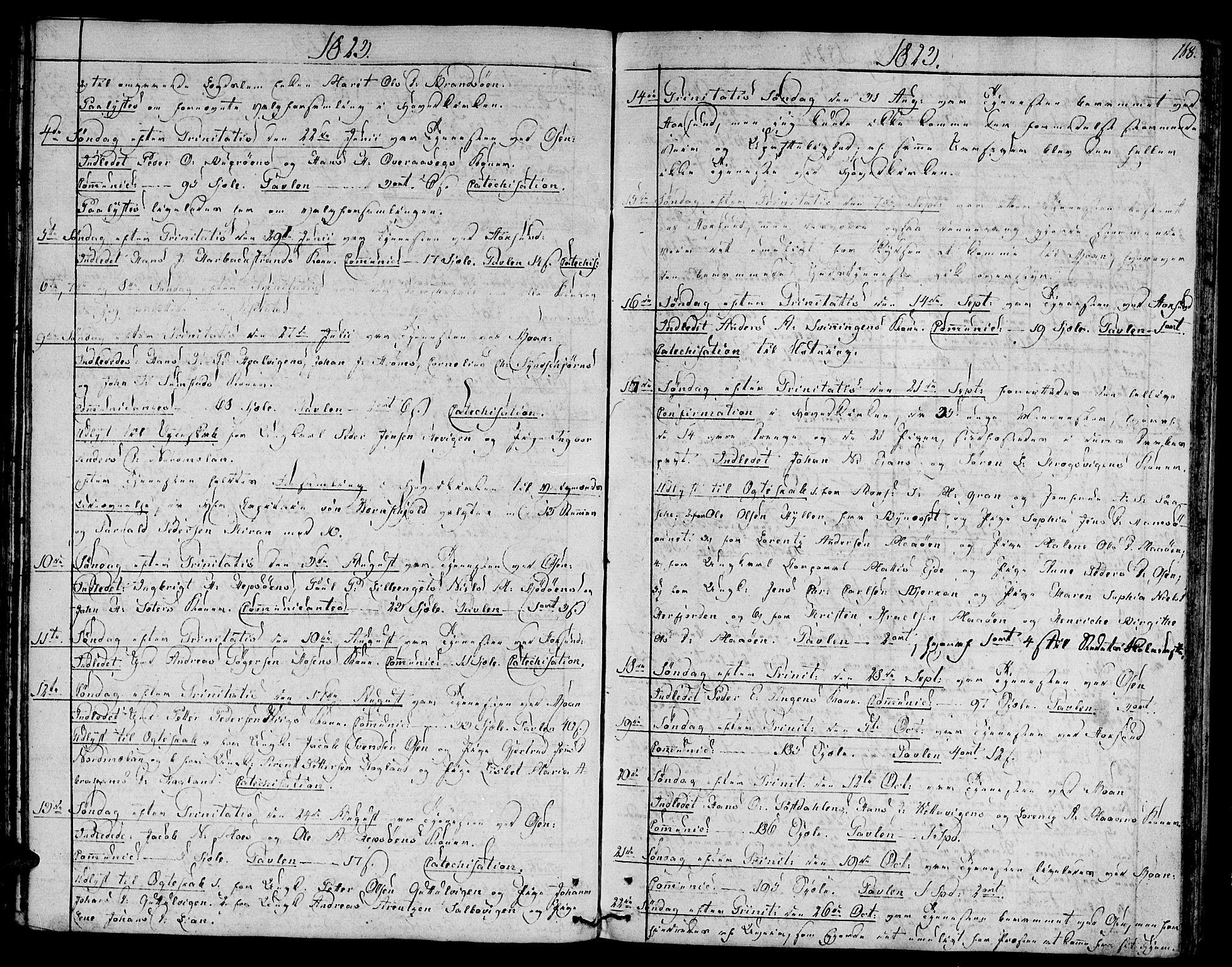 SAT, Ministerialprotokoller, klokkerbøker og fødselsregistre - Sør-Trøndelag, 657/L0701: Ministerialbok nr. 657A02, 1802-1831, s. 168