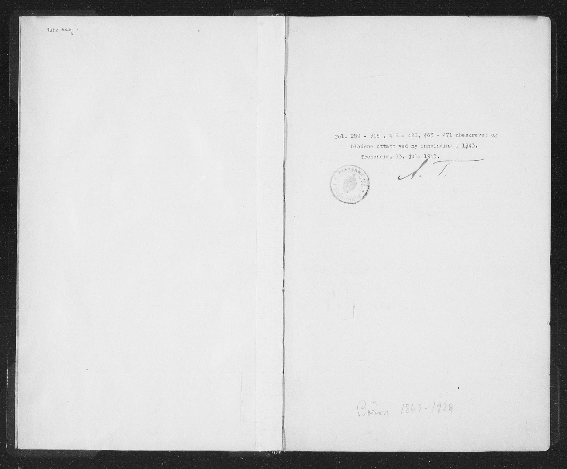 SAT, Ministerialprotokoller, klokkerbøker og fødselsregistre - Sør-Trøndelag, 667/L0798: Klokkerbok nr. 667C03, 1867-1929