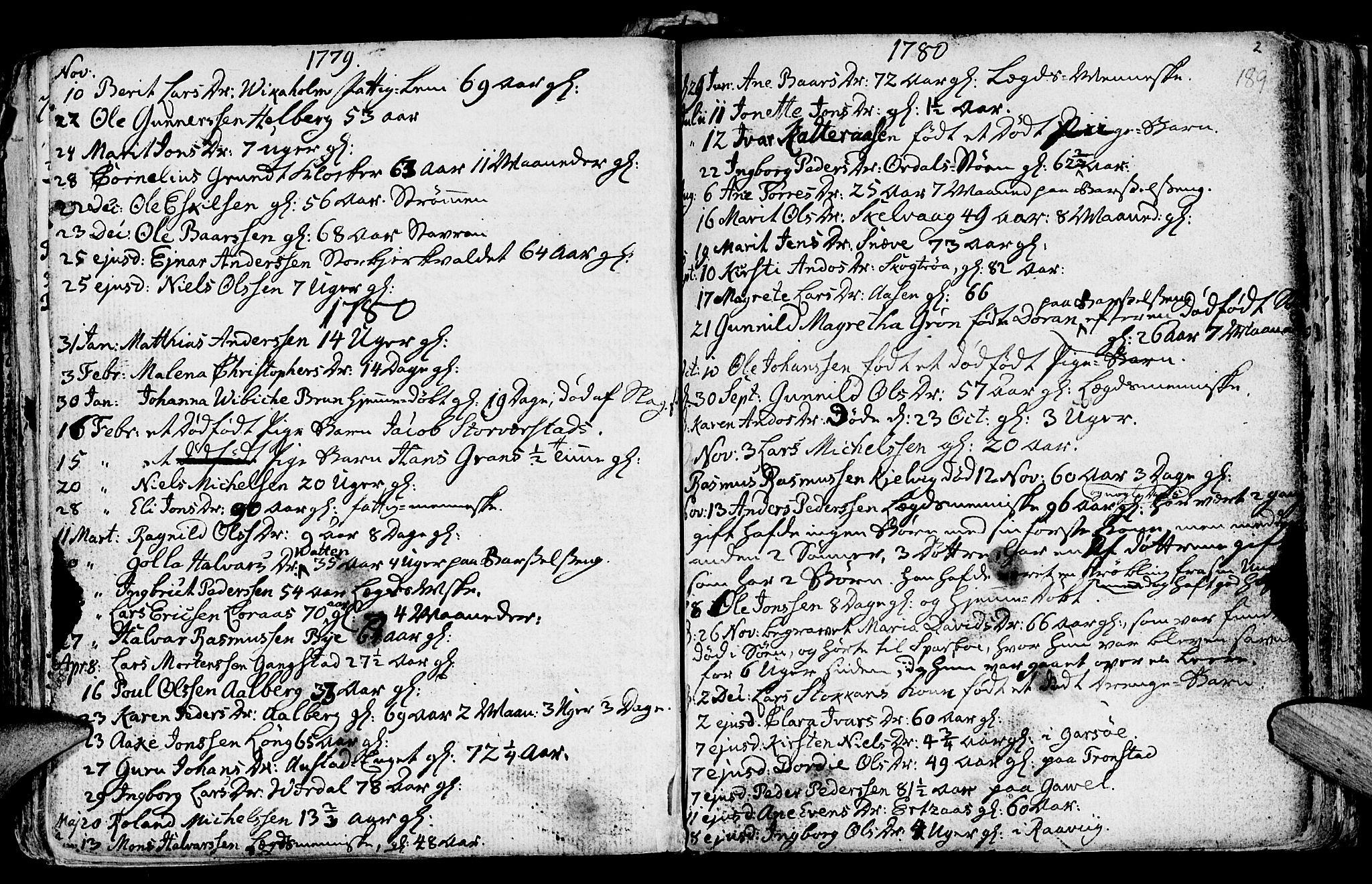 SAT, Ministerialprotokoller, klokkerbøker og fødselsregistre - Nord-Trøndelag, 730/L0273: Ministerialbok nr. 730A02, 1762-1802, s. 189