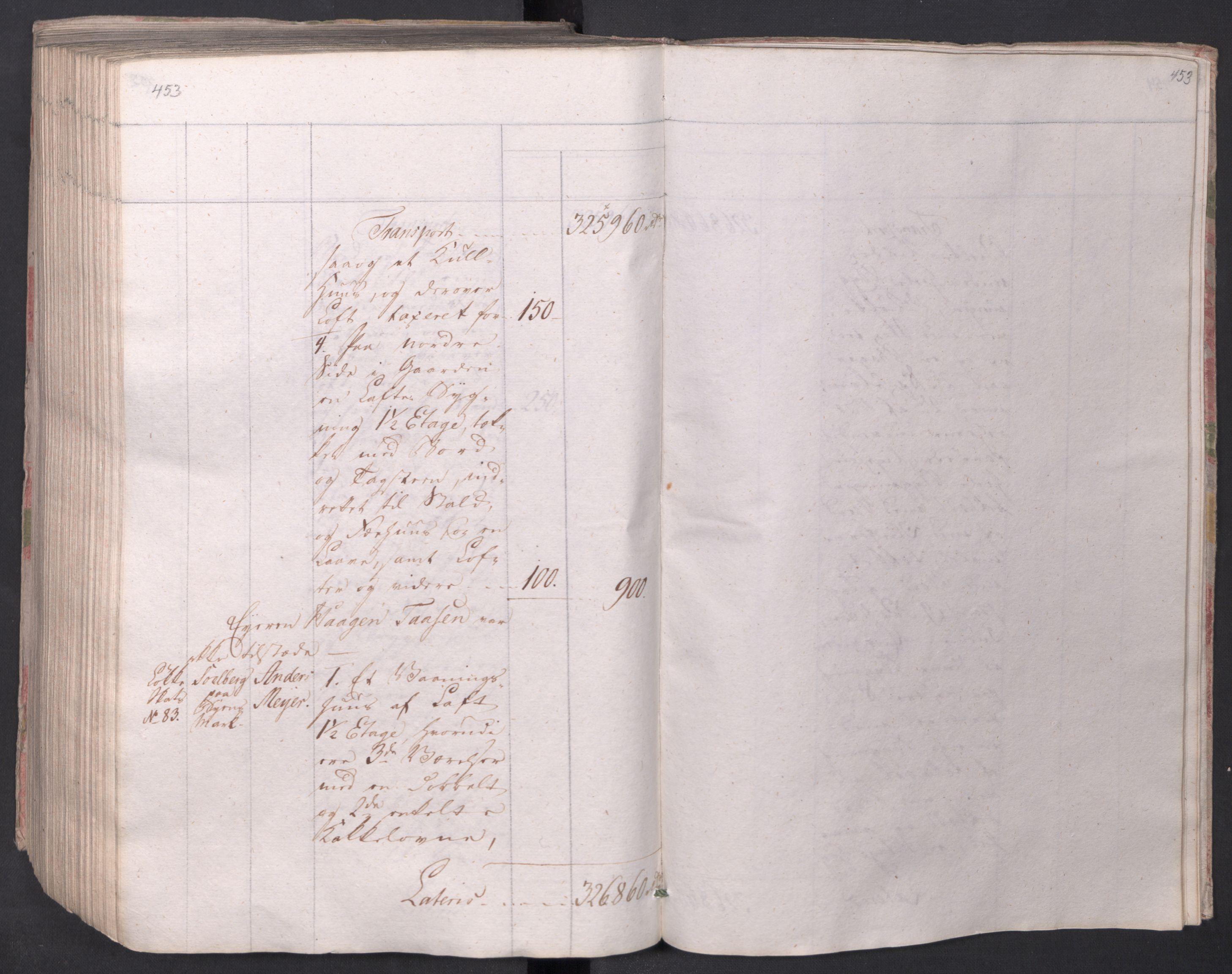SAO, Kristiania stiftamt, I/Ia/L0015: Branntakster, 1797, s. 453