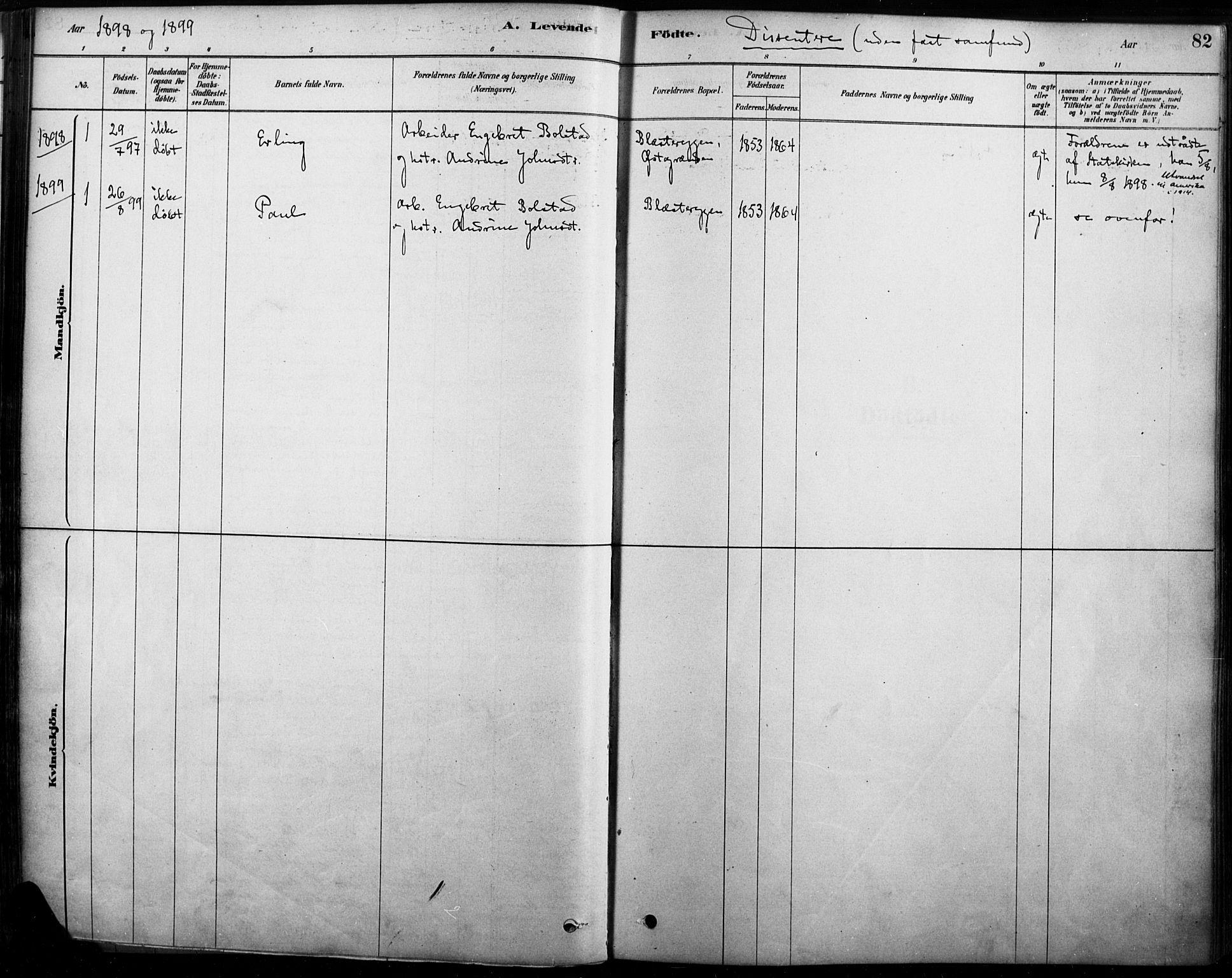 SAH, Rendalen prestekontor, H/Ha/Haa/L0009: Ministerialbok nr. 9, 1878-1901, s. 82