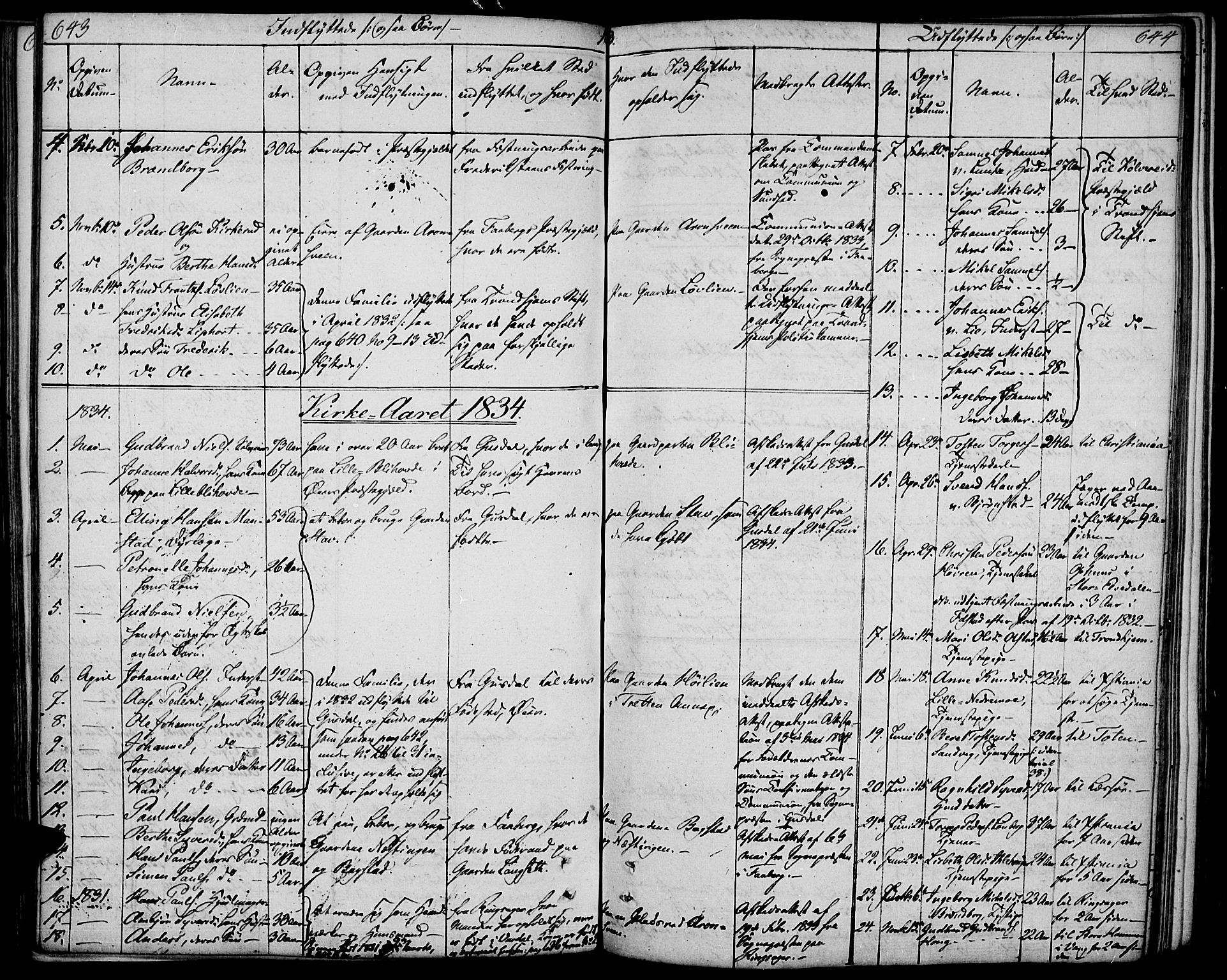 SAH, Øyer prestekontor, Ministerialbok nr. 4, 1824-1841, s. 643-644