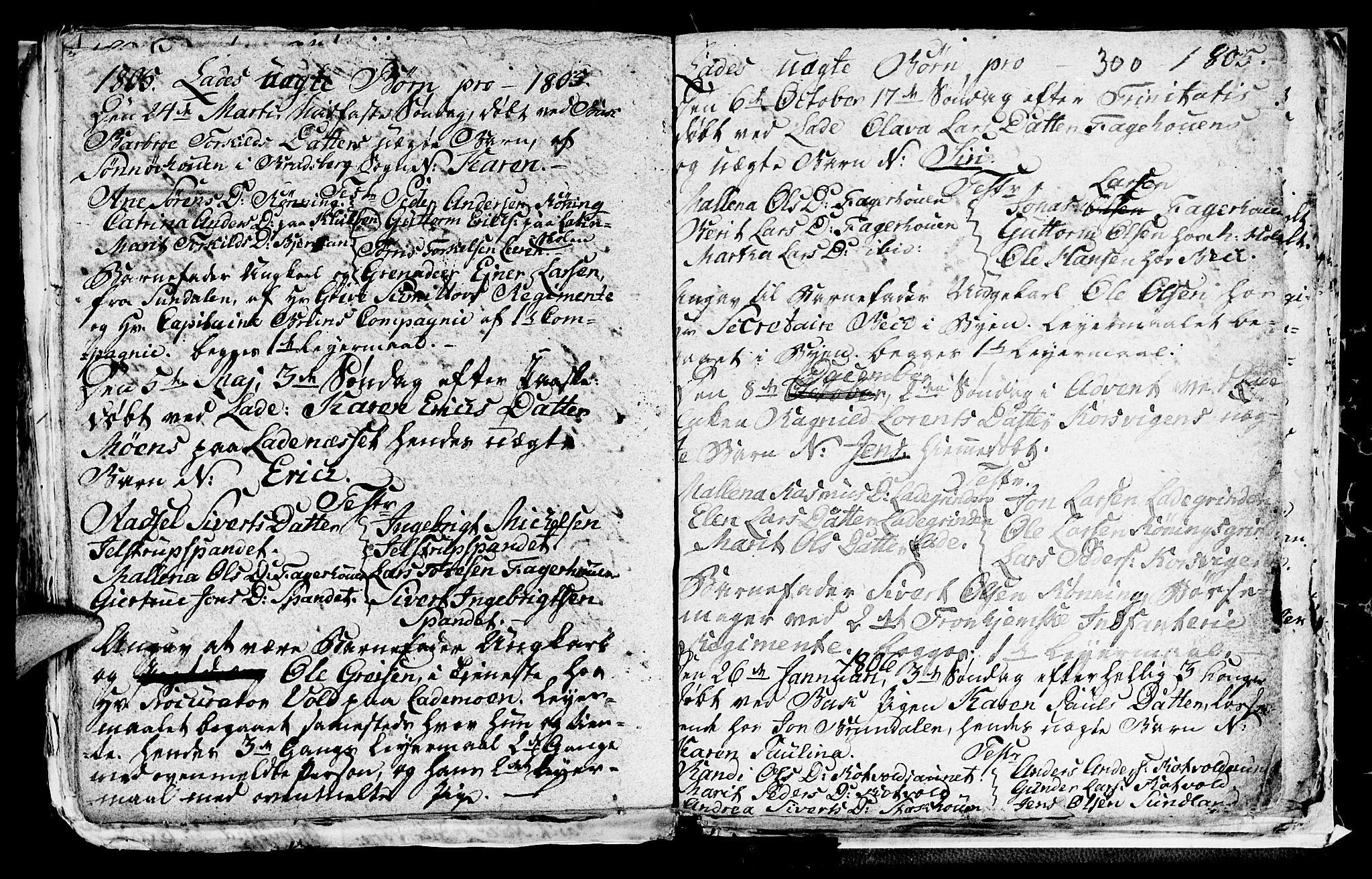 SAT, Ministerialprotokoller, klokkerbøker og fødselsregistre - Sør-Trøndelag, 606/L0305: Klokkerbok nr. 606C01, 1757-1819, s. 300