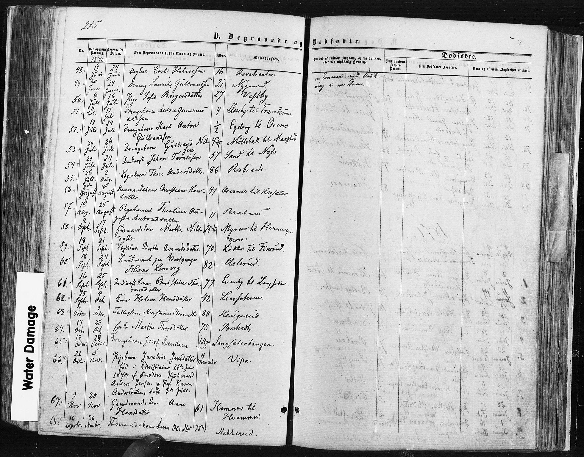SAO, Trøgstad prestekontor Kirkebøker, F/Fa/L0009: Ministerialbok nr. I 9, 1865-1877, s. 285