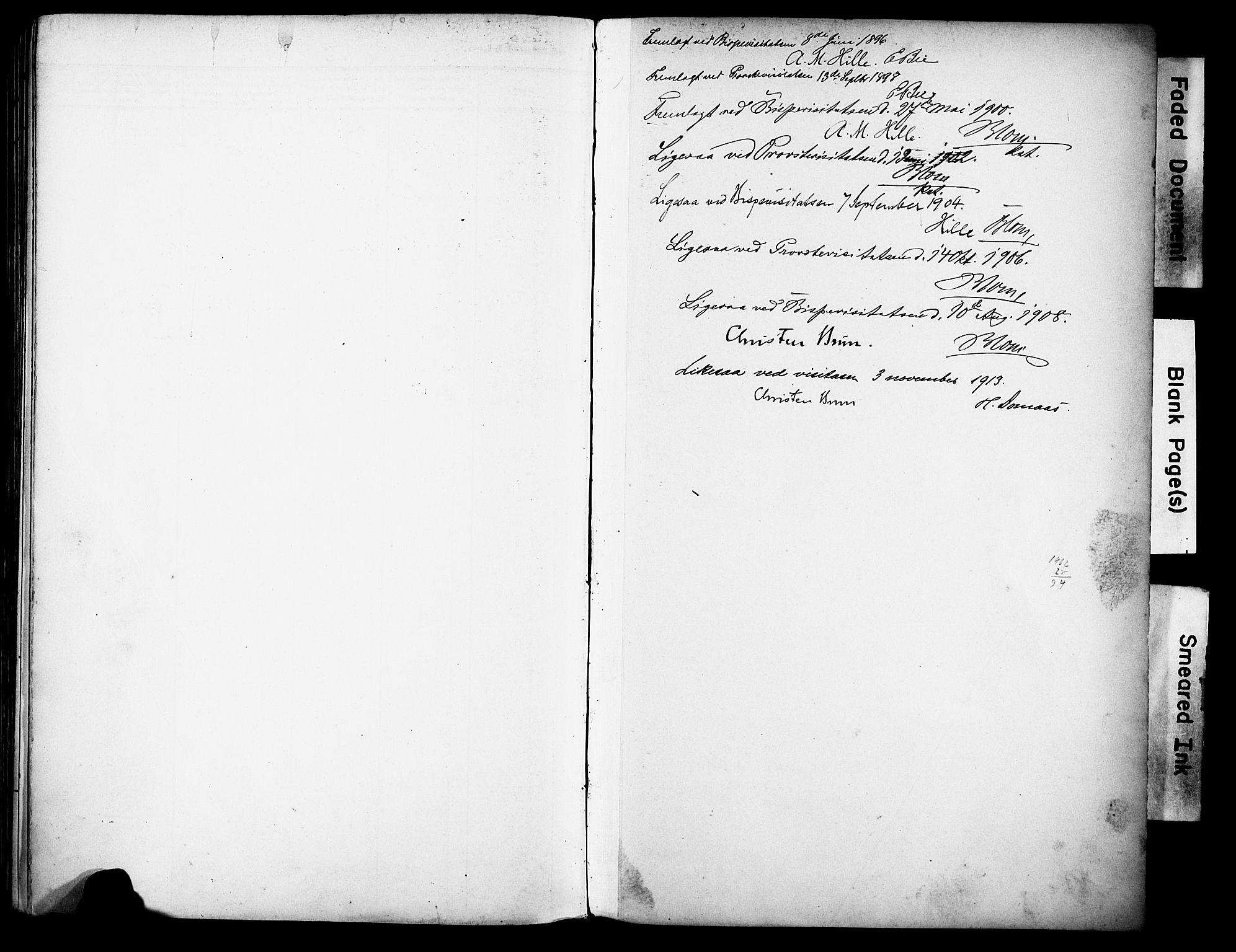 SAH, Vestre Toten prestekontor, H/Ha/Haa/L0013: Ministerialbok nr. 13, 1895-1911
