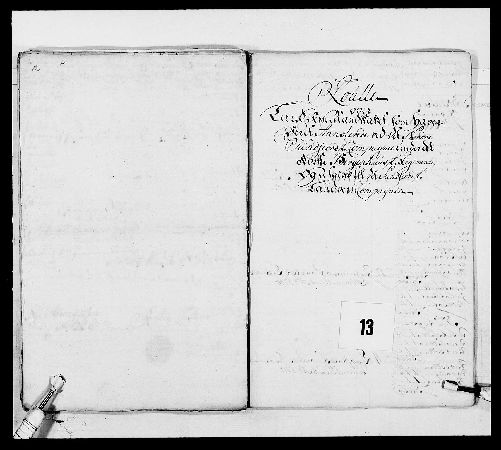RA, Kommanderende general (KG I) med Det norske krigsdirektorium, E/Ea/L0517: 1. Bergenhusiske regiment, 1742-1756, s. 103