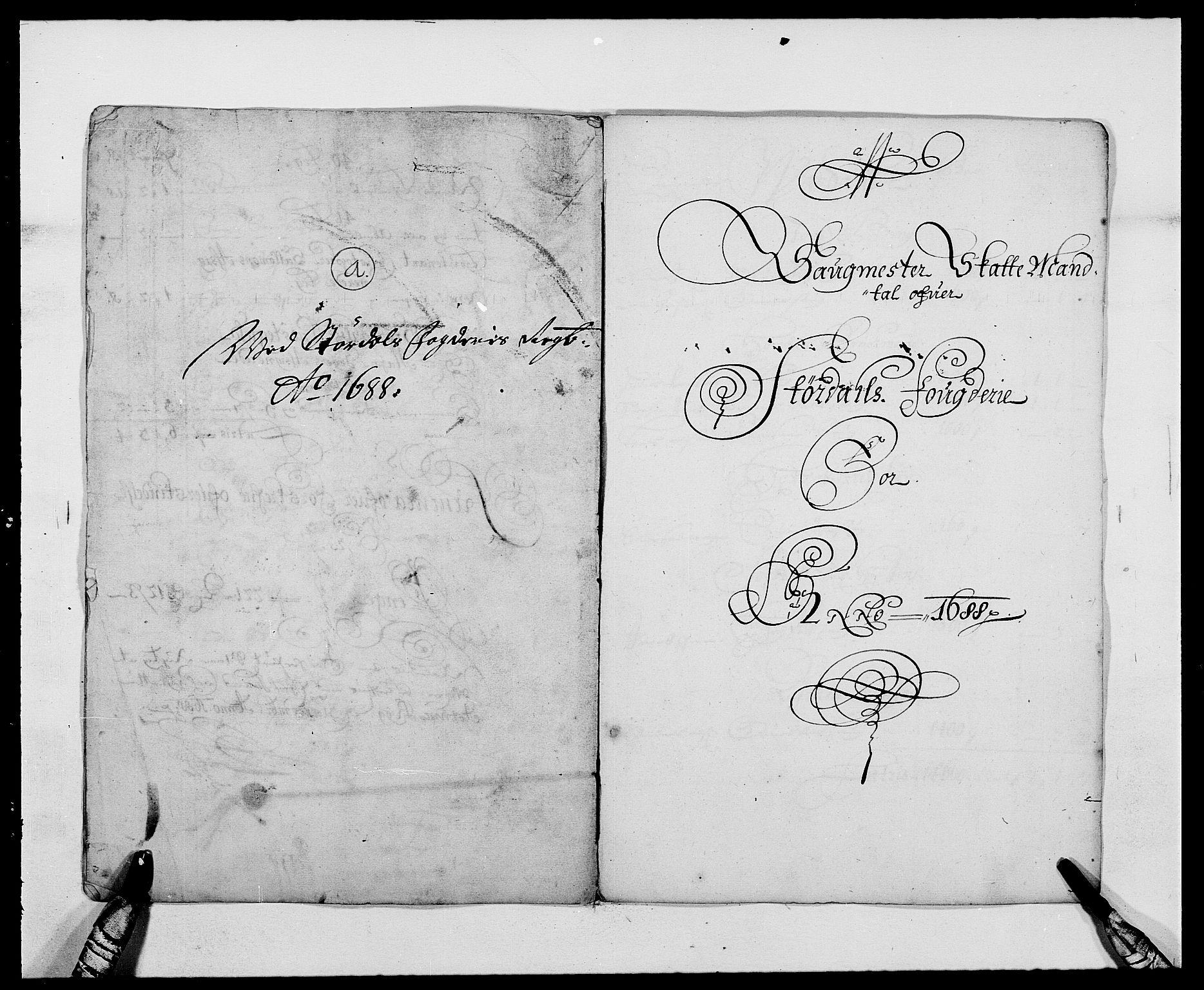 RA, Rentekammeret inntil 1814, Reviderte regnskaper, Fogderegnskap, R62/L4183: Fogderegnskap Stjørdal og Verdal, 1687-1689, s. 203