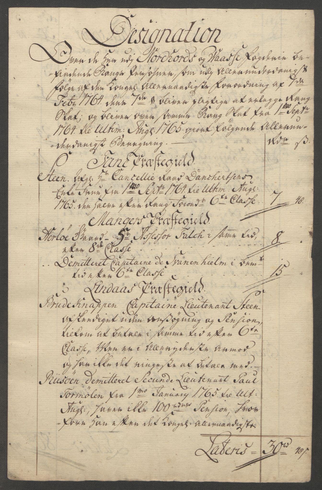 RA, Rentekammeret inntil 1814, Reviderte regnskaper, Fogderegnskap, R51/L3303: Ekstraskatten Nordhordland og Voss, 1762-1772, s. 103