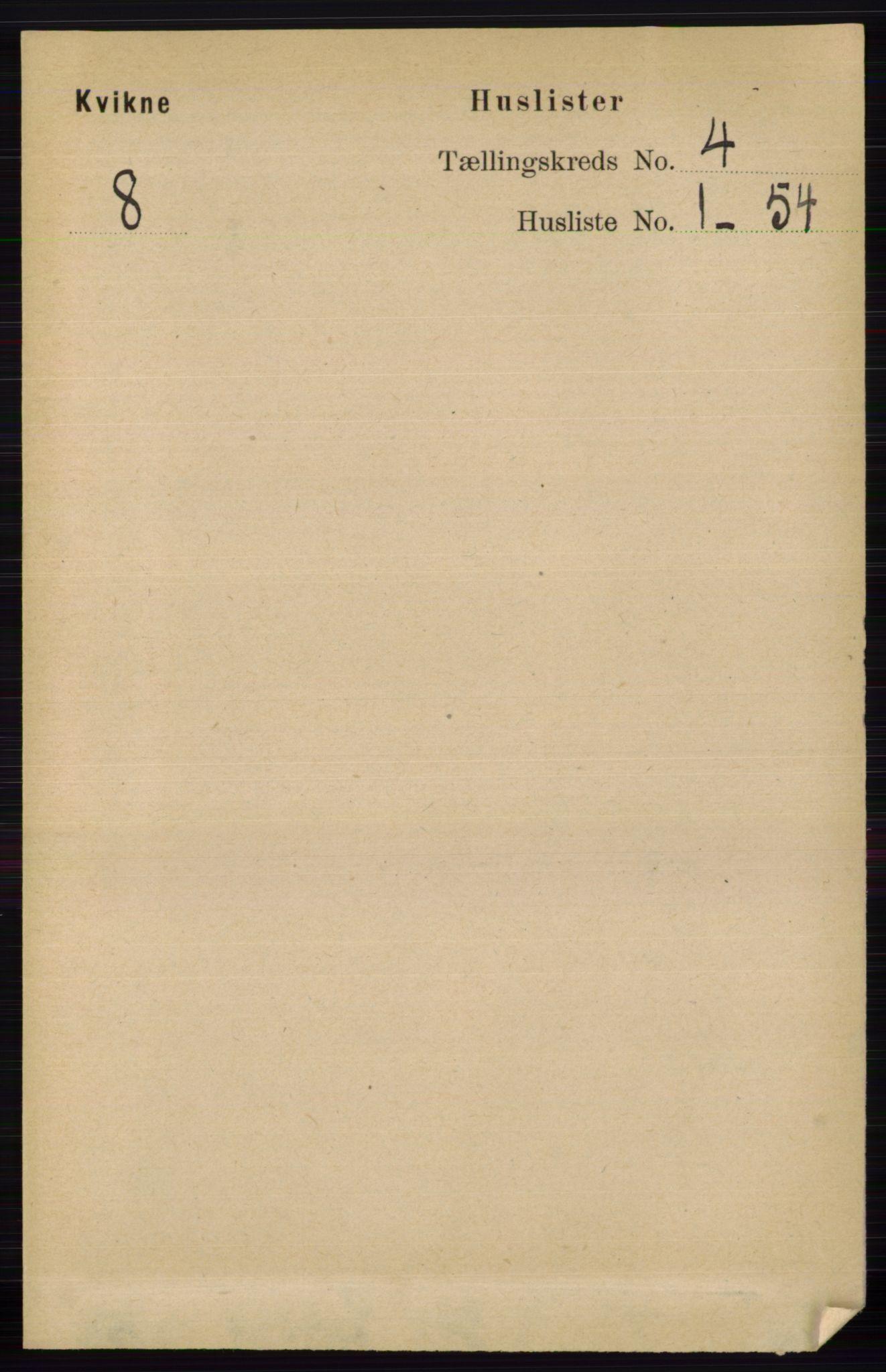 RA, Folketelling 1891 for 0440 Kvikne herred, 1891, s. 913