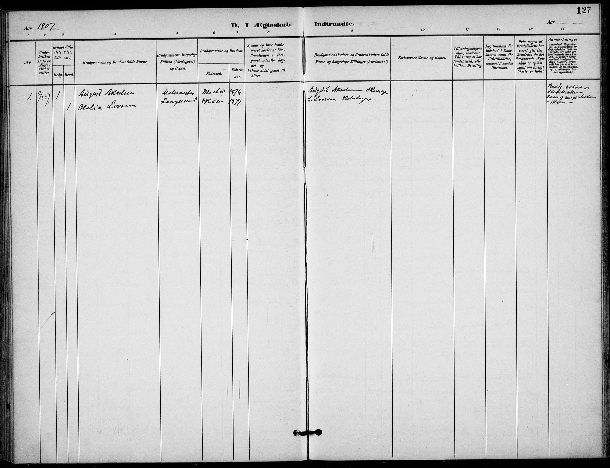 SAKO, Langesund kirkebøker, F/Fa/L0003: Ministerialbok nr. 3, 1893-1907, s. 127