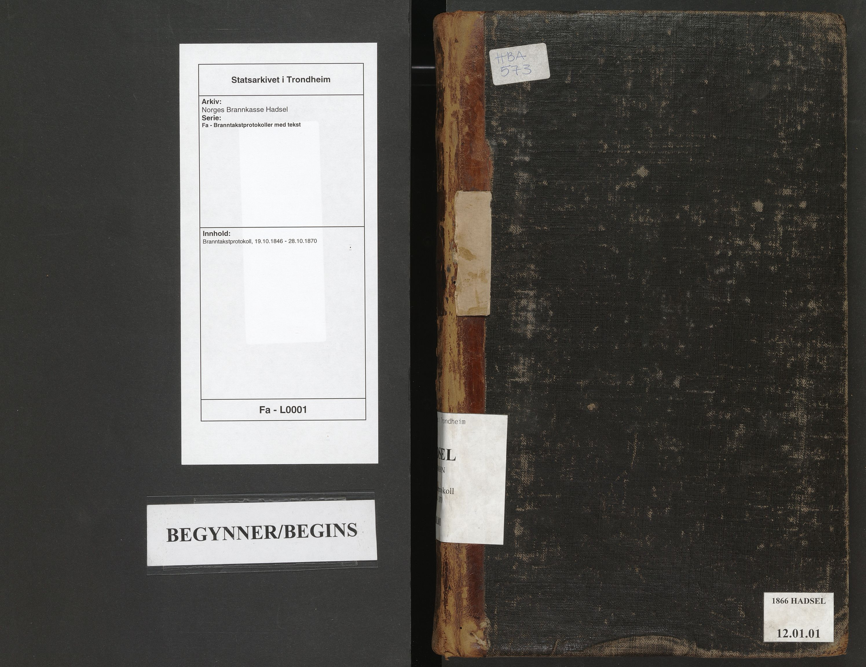 SAT, Norges Brannkasse Hadsel, Fa/L0001: Branntakstprotokoll, 1846-1870