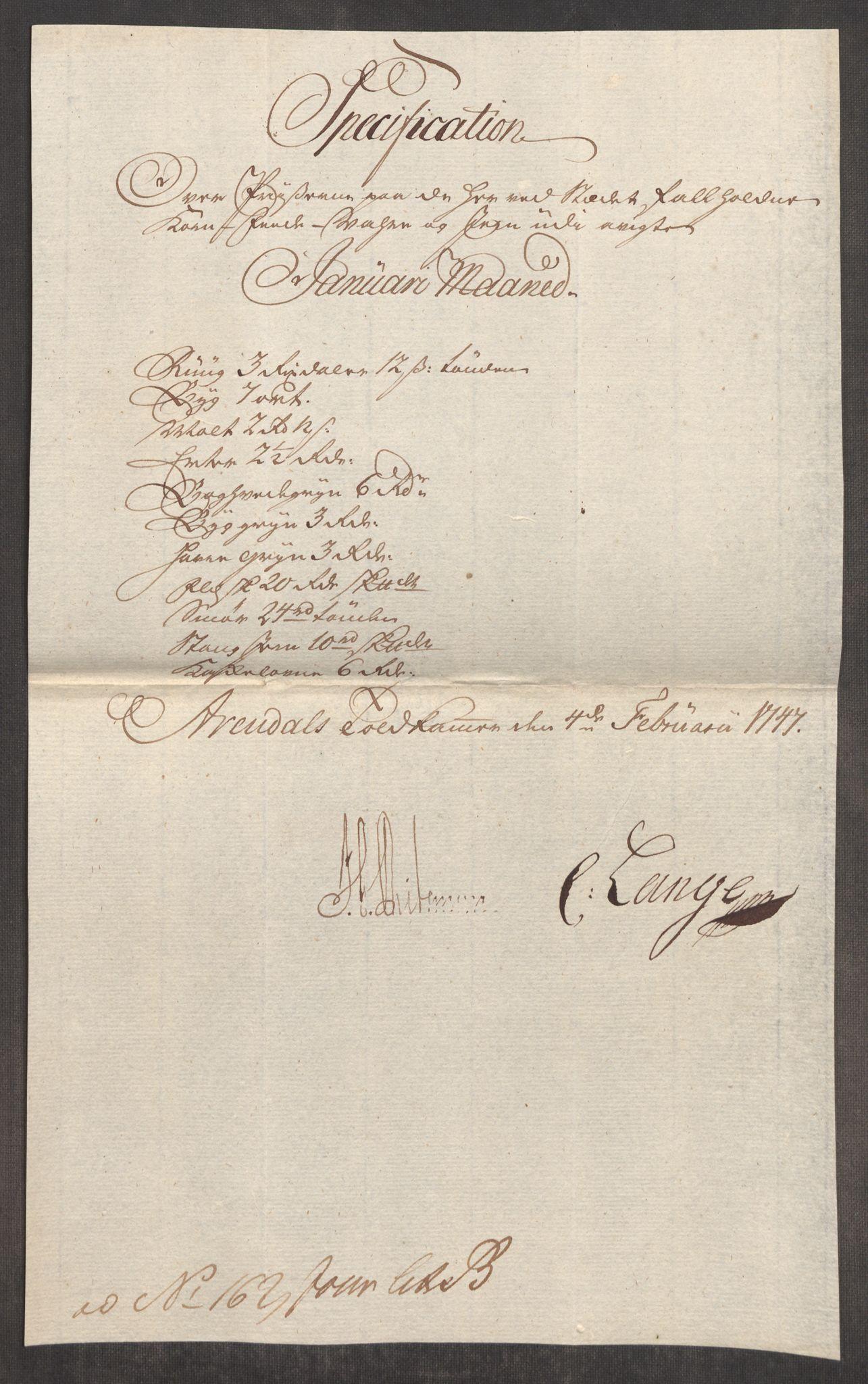 RA, Rentekammeret inntil 1814, Realistisk ordnet avdeling, Oe/L0003: [Ø1]: Priskuranter, 1745-1748, s. 613