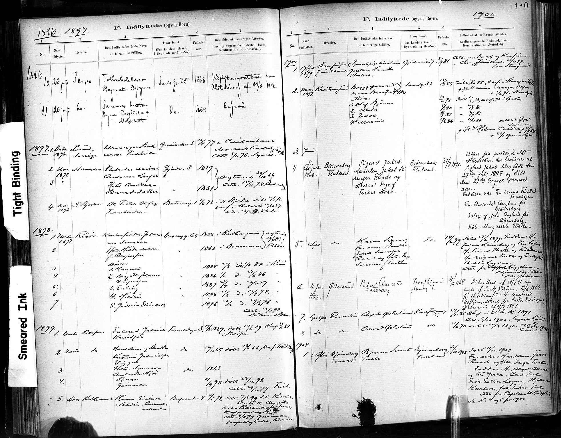 SAT, Ministerialprotokoller, klokkerbøker og fødselsregistre - Sør-Trøndelag, 602/L0120: Ministerialbok nr. 602A18, 1880-1913, s. 110