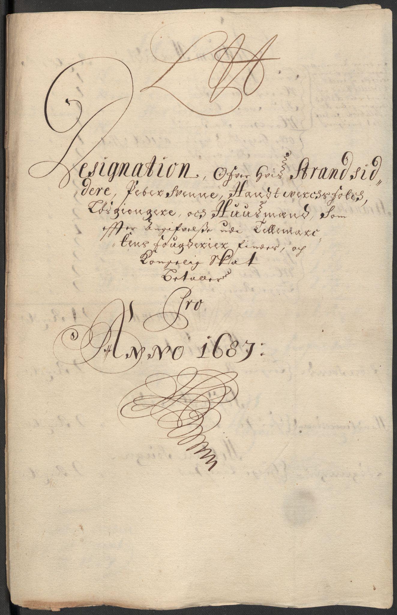 RA, Rentekammeret inntil 1814, Reviderte regnskaper, Fogderegnskap, R35/L2086: Fogderegnskap Øvre og Nedre Telemark, 1687-1689, s. 124