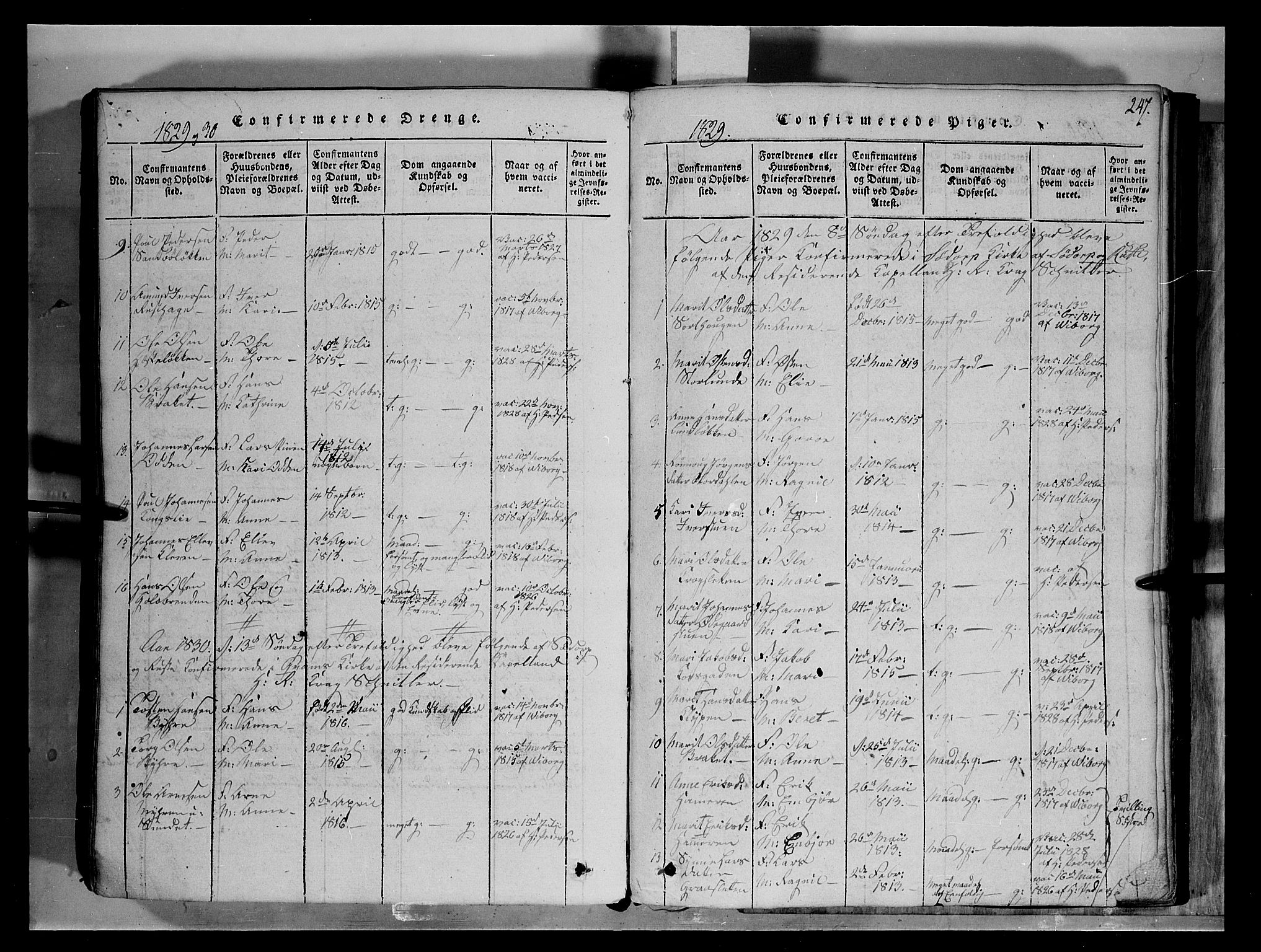 SAH, Fron prestekontor, H/Ha/Hab/L0004: Klokkerbok nr. 4, 1816-1850, s. 247