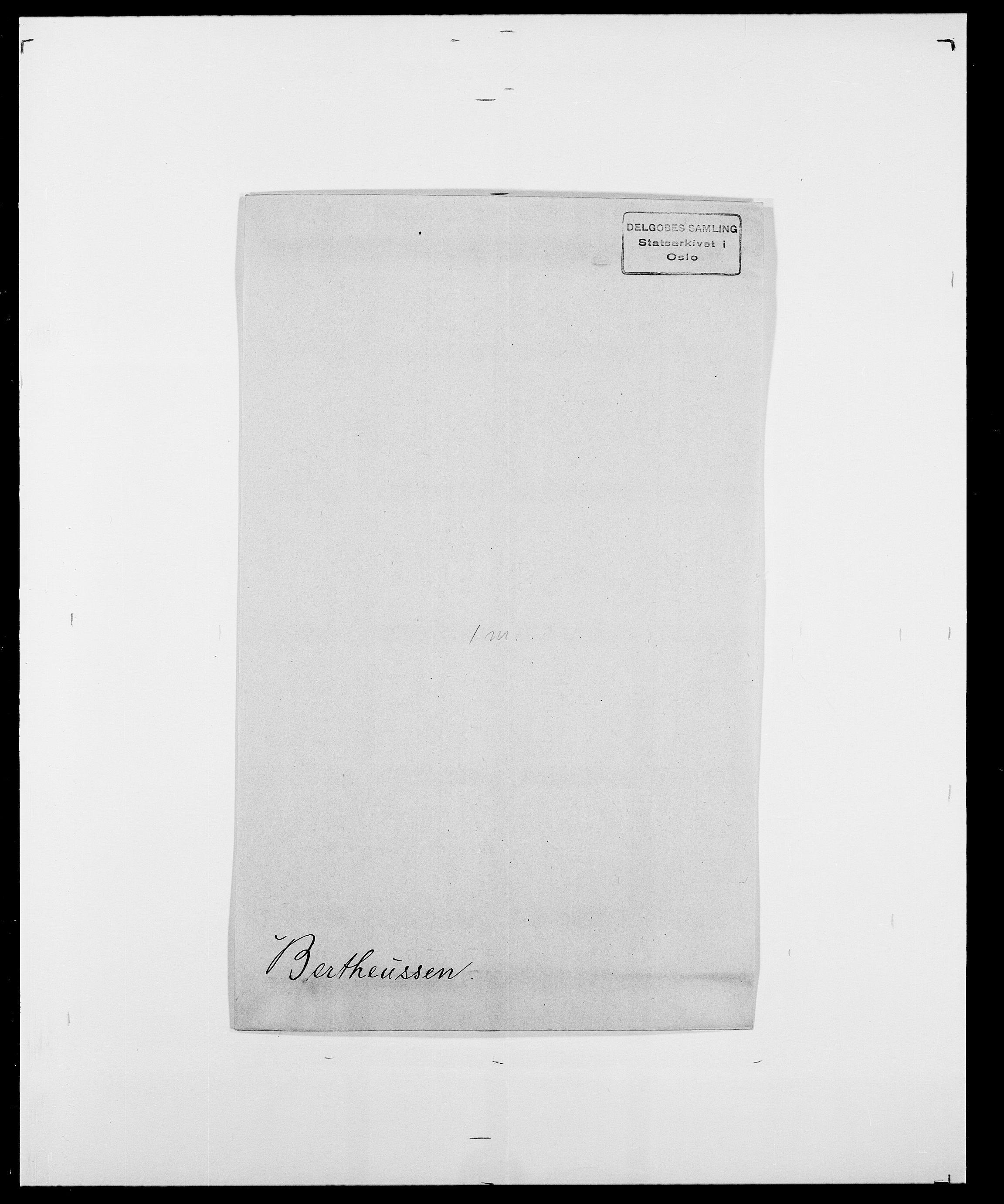 SAO, Delgobe, Charles Antoine - samling, D/Da/L0004: Bergendahl - Blære, s. 121