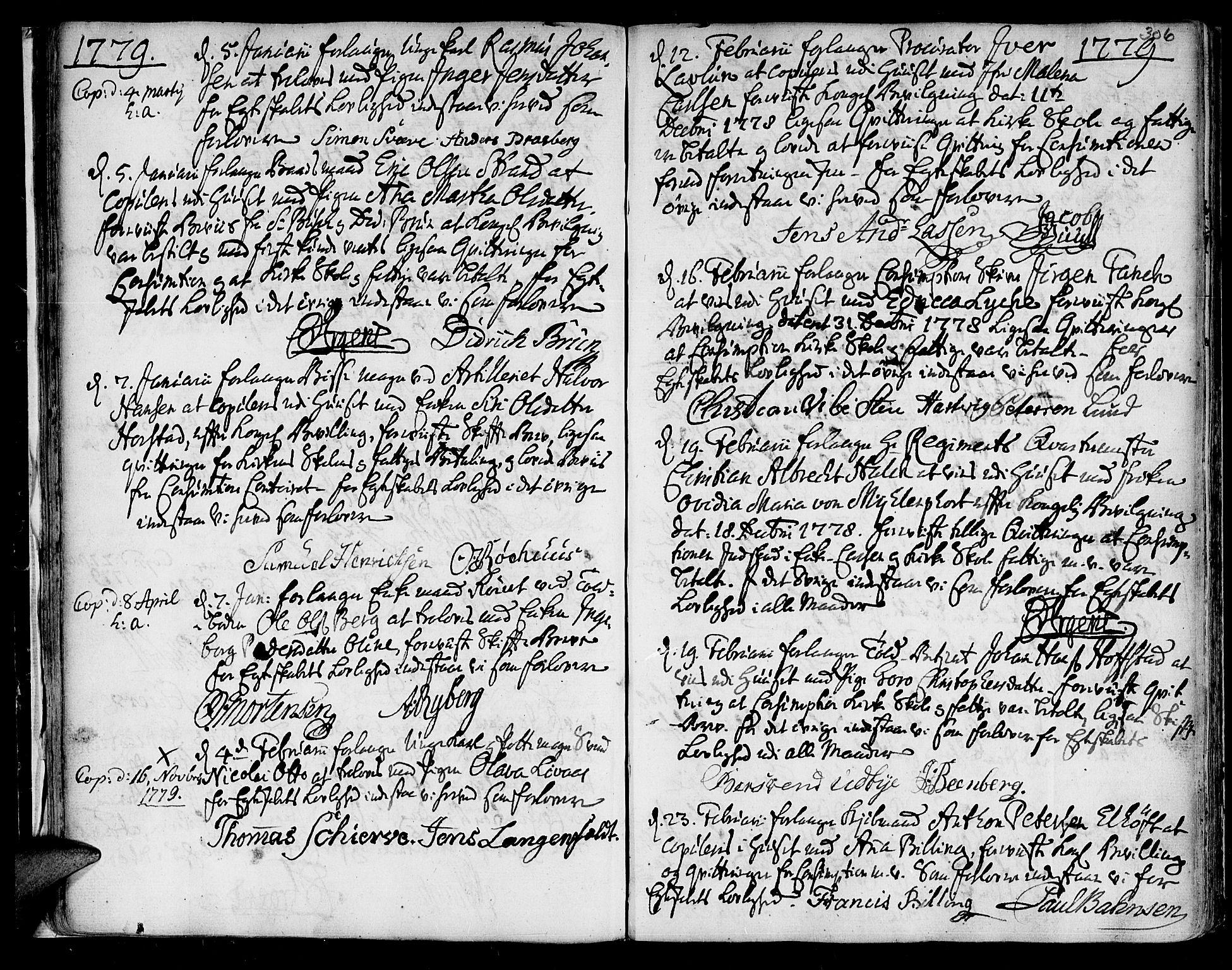 SAT, Ministerialprotokoller, klokkerbøker og fødselsregistre - Sør-Trøndelag, 601/L0038: Ministerialbok nr. 601A06, 1766-1877, s. 306