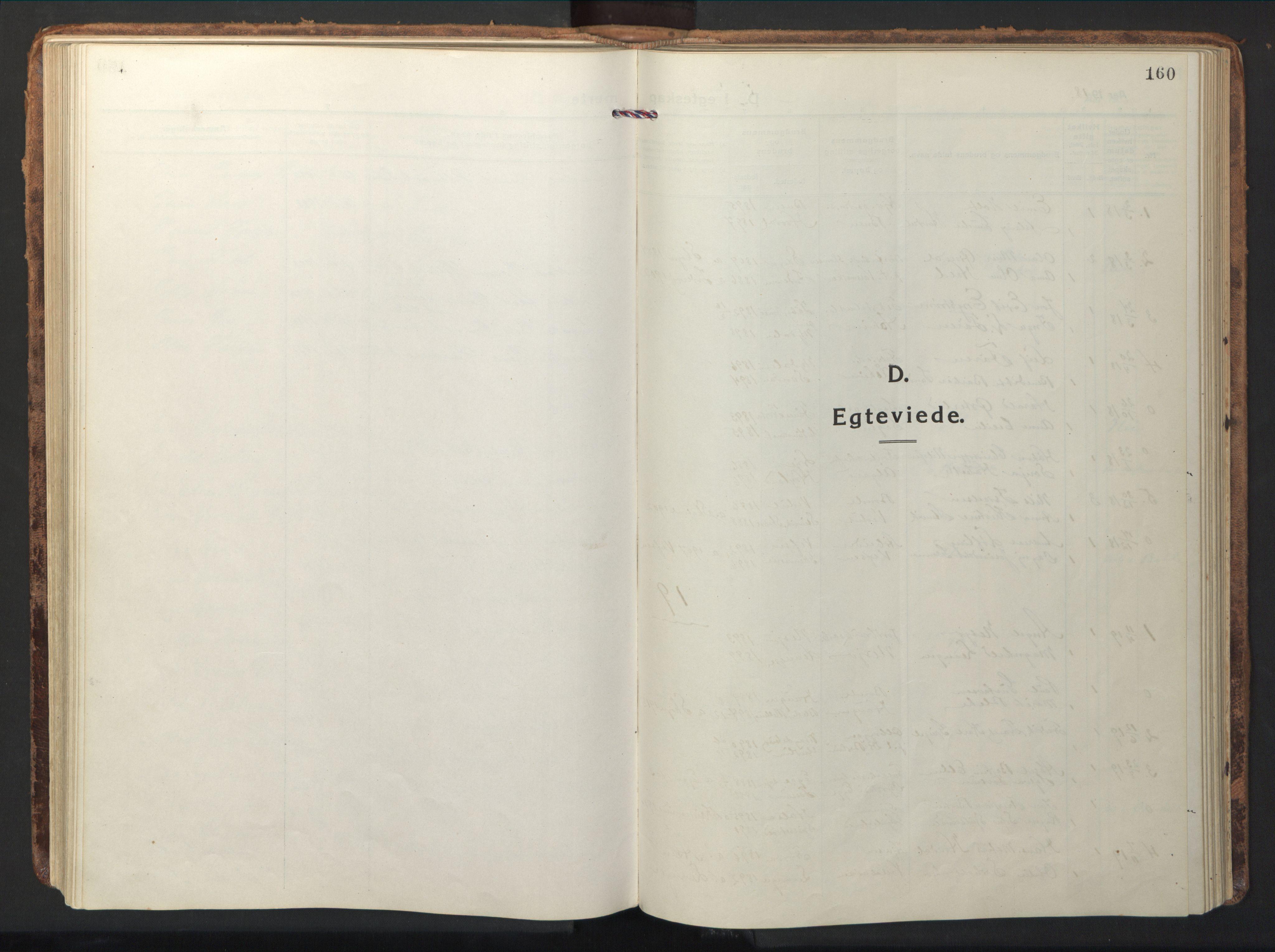 SAT, Ministerialprotokoller, klokkerbøker og fødselsregistre - Nord-Trøndelag, 714/L0136: Klokkerbok nr. 714C05, 1918-1957, s. 160