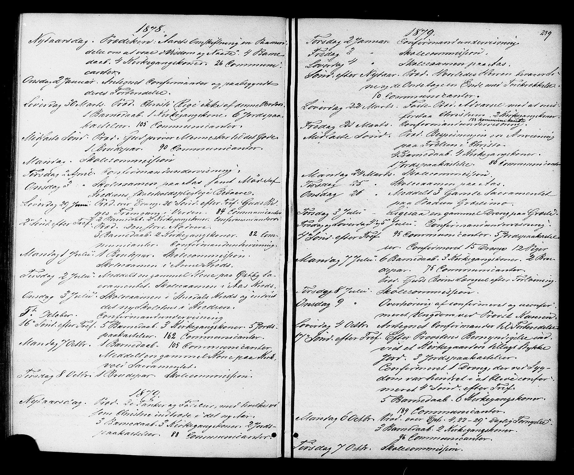 SAT, Ministerialprotokoller, klokkerbøker og fødselsregistre - Sør-Trøndelag, 698/L1163: Ministerialbok nr. 698A01, 1862-1887, s. 239