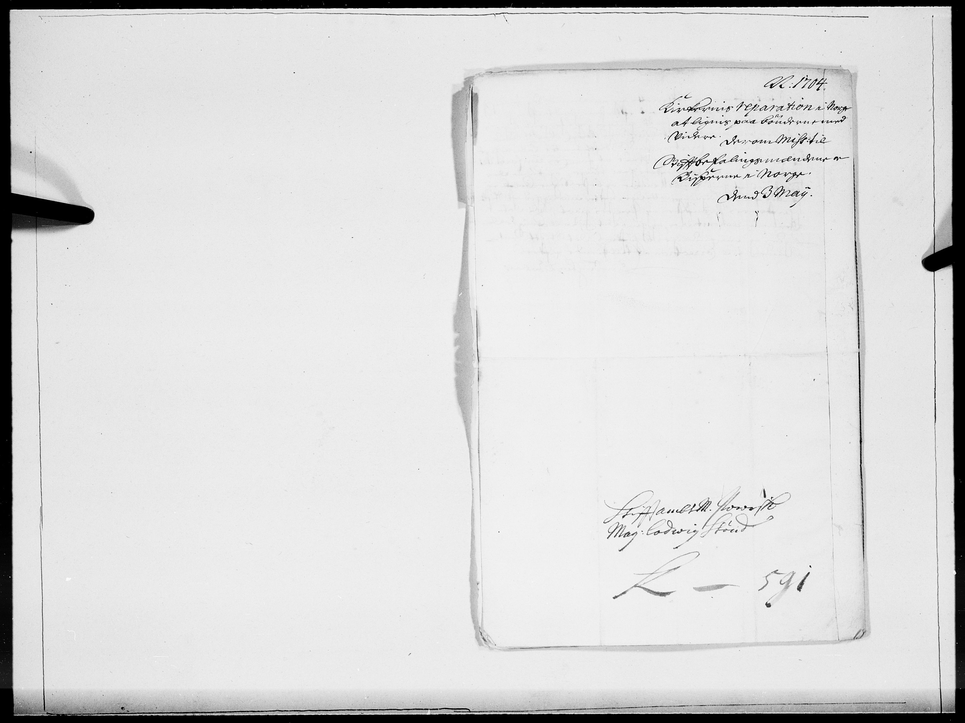 RA, Danske Kanselli 1572-1799, F/Fc/Fcc/Fcca/L0057: Norske innlegg 1572-1799, 1704, s. 2