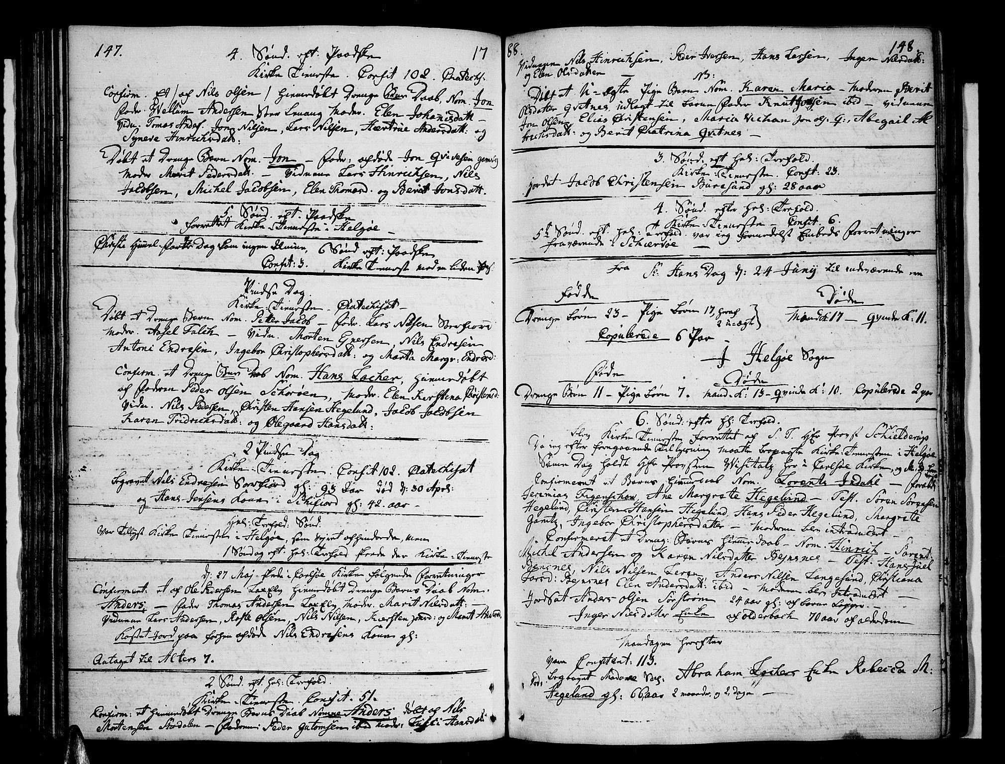SATØ, Karlsøy sokneprestembete, H/Ha/Haa/L0001kirke: Ministerialbok nr. 1, 1775-1823, s. 147-148