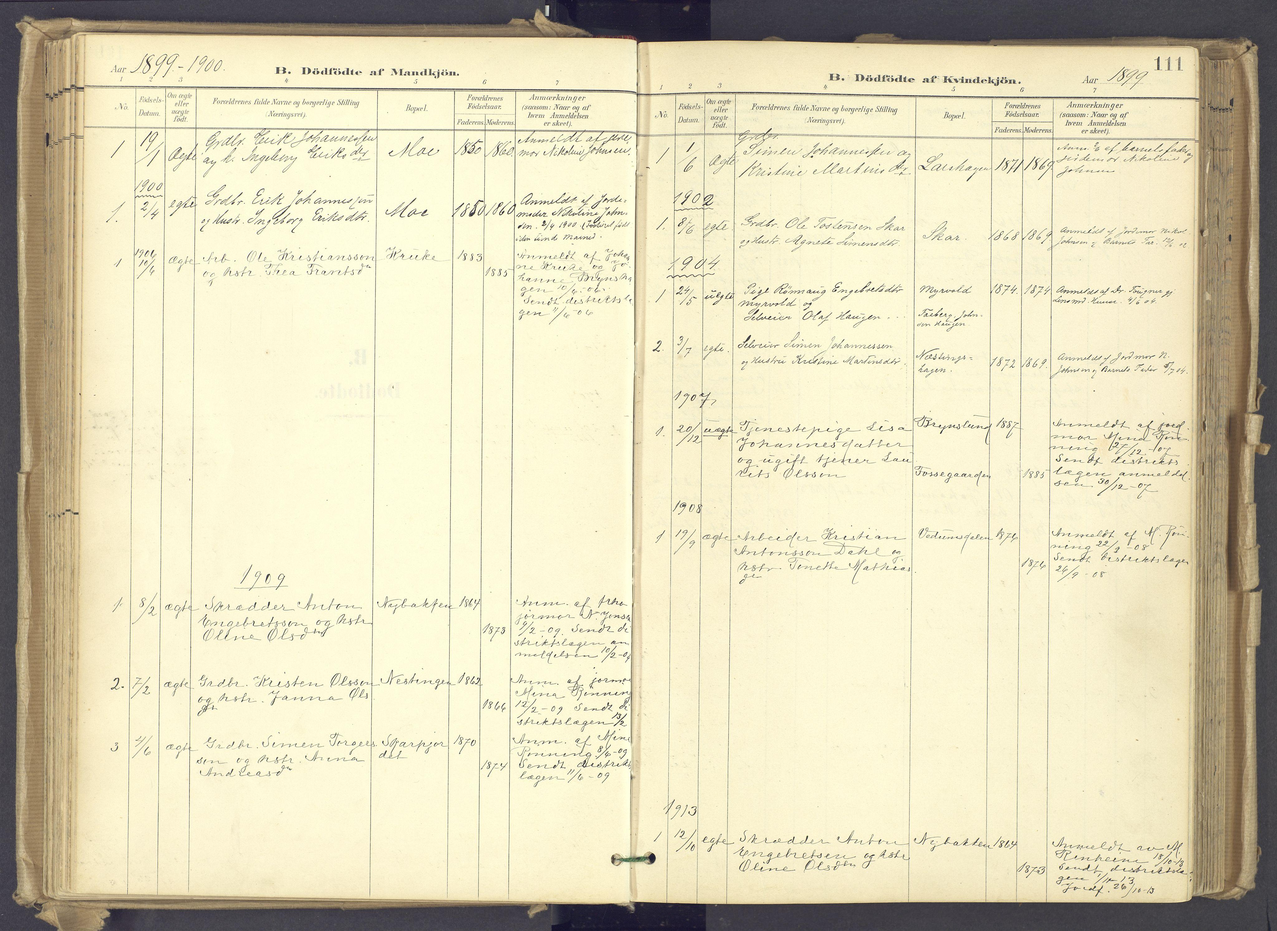 SAH, Øyer prestekontor, Ministerialbok nr. 12, 1897-1920, s. 111