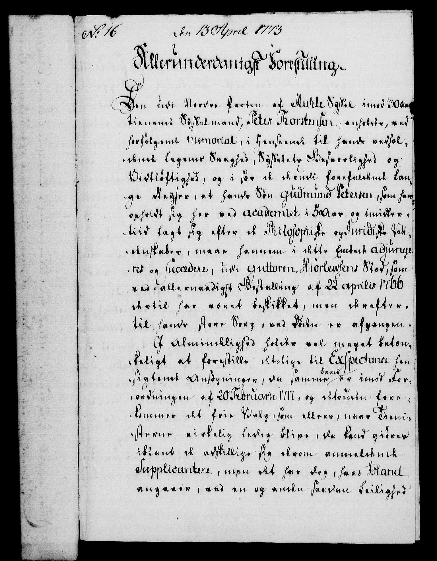 RA, Rentekammeret, Kammerkanselliet, G/Gf/Gfa/L0055: Norsk relasjons- og resolusjonsprotokoll (merket RK 52.55), 1773, s. 73