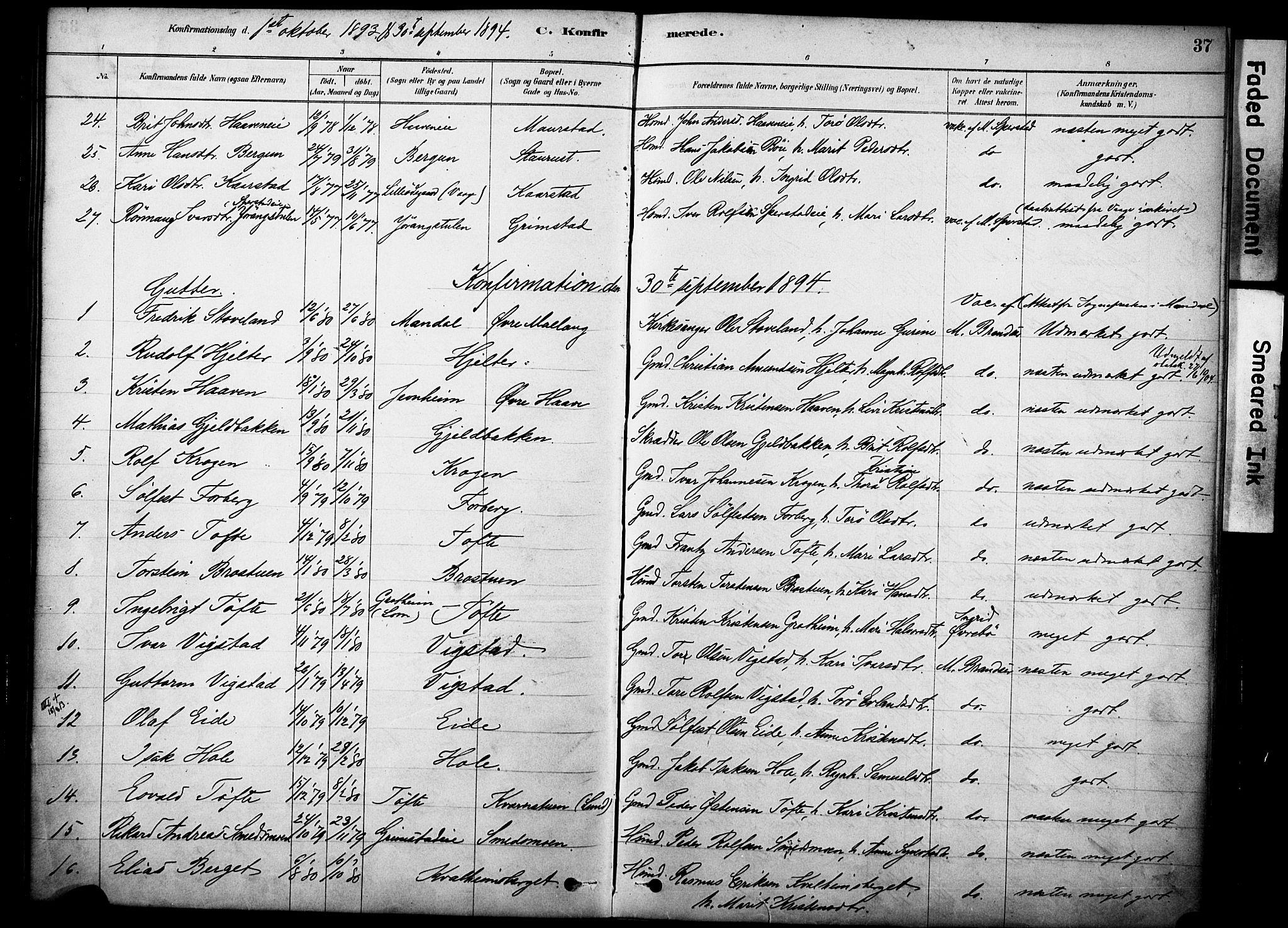 SAH, Skjåk prestekontor, Ministerialbok nr. 2, 1878-1907, s. 37