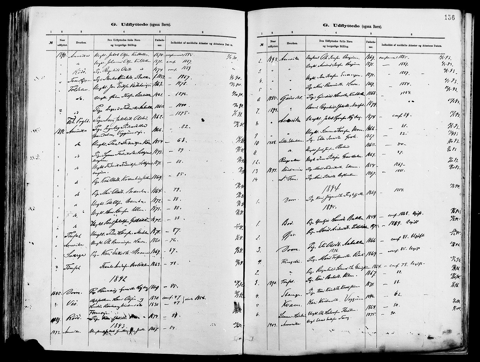 SAH, Vågå prestekontor, Ministerialbok nr. 8, 1886-1904, s. 156