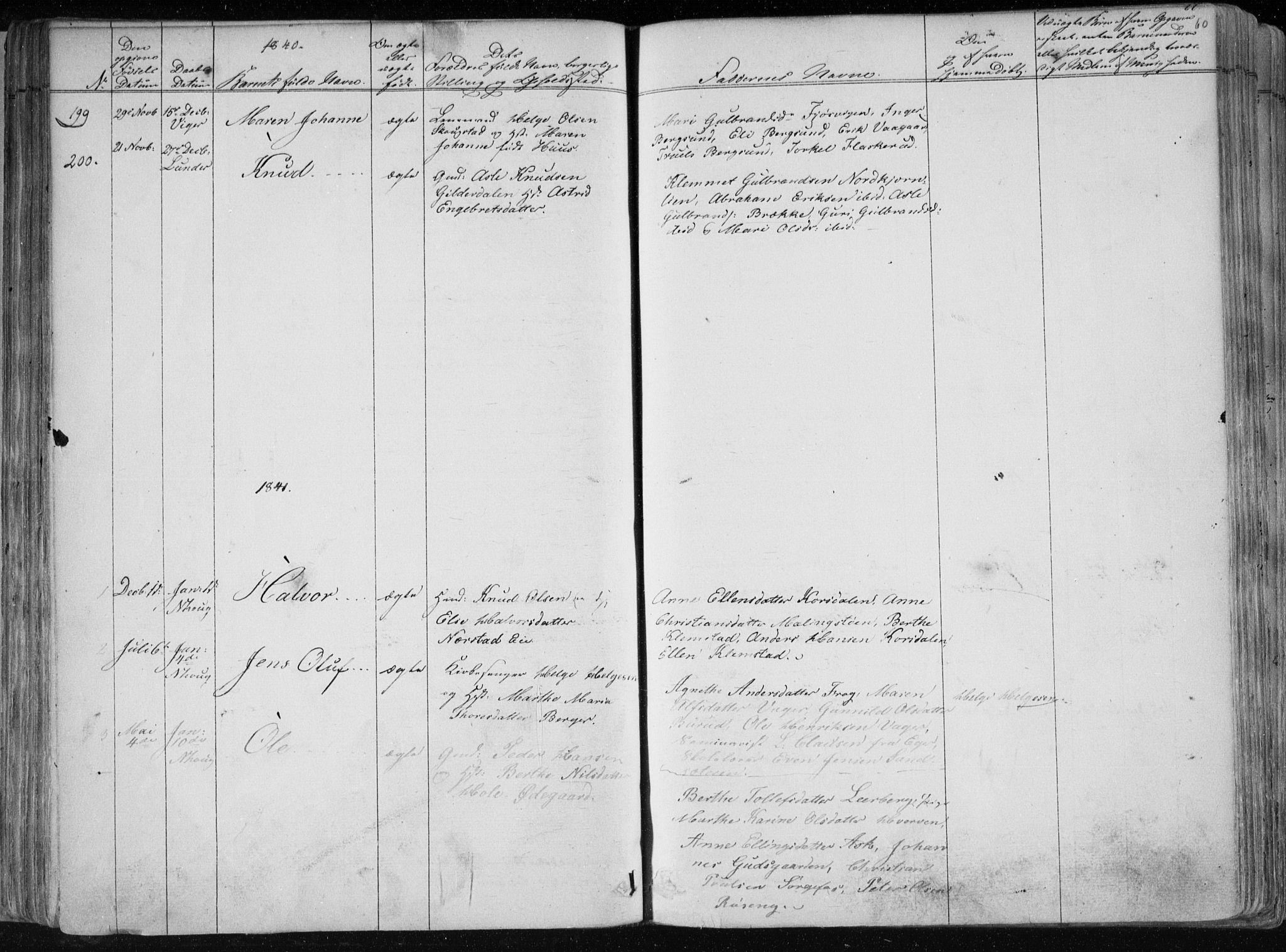 SAKO, Norderhov kirkebøker, F/Fa/L0010: Ministerialbok nr. 10, 1837-1847, s. 60