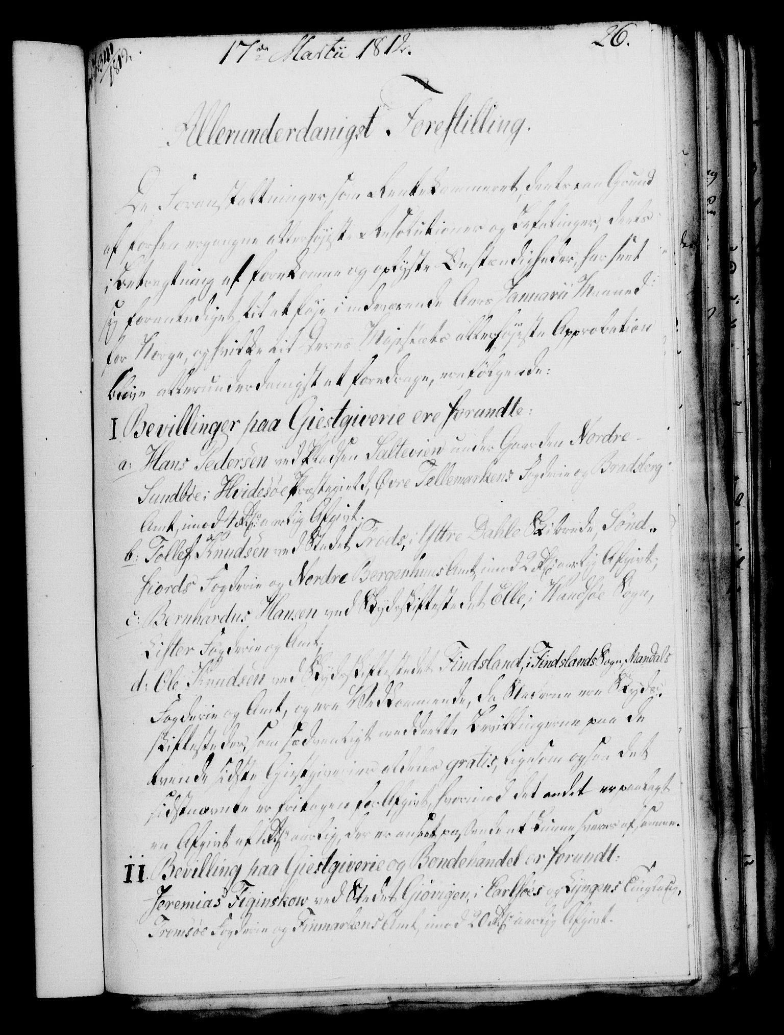RA, Rentekammeret, Kammerkanselliet, G/Gf/Gfa/L0094: Norsk relasjons- og resolusjonsprotokoll (merket RK 52.94), 1812, s. 113