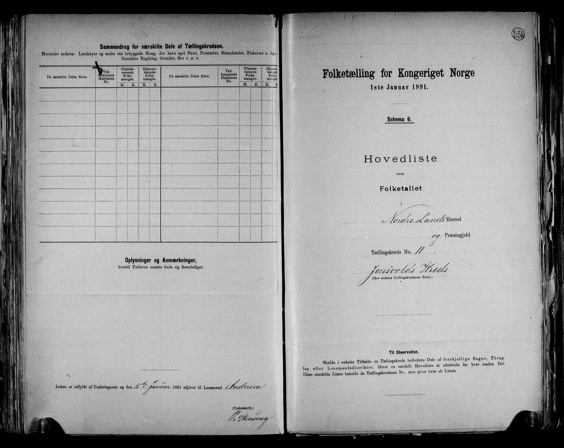 RA, Folketelling 1891 for 0538 Nordre Land herred, 1891, s. 24