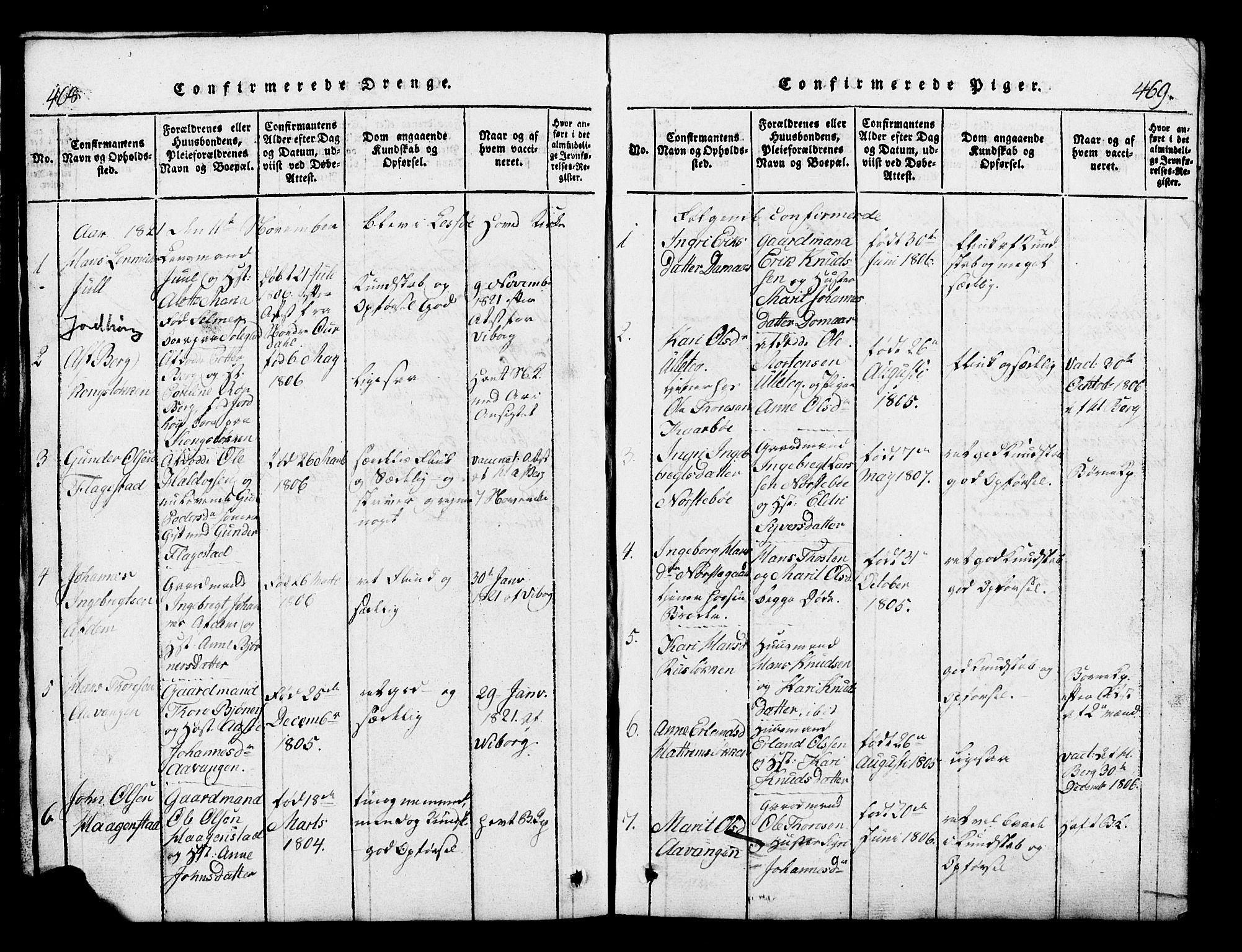 SAH, Lesja prestekontor, Klokkerbok nr. 1, 1820-1831, s. 468-469