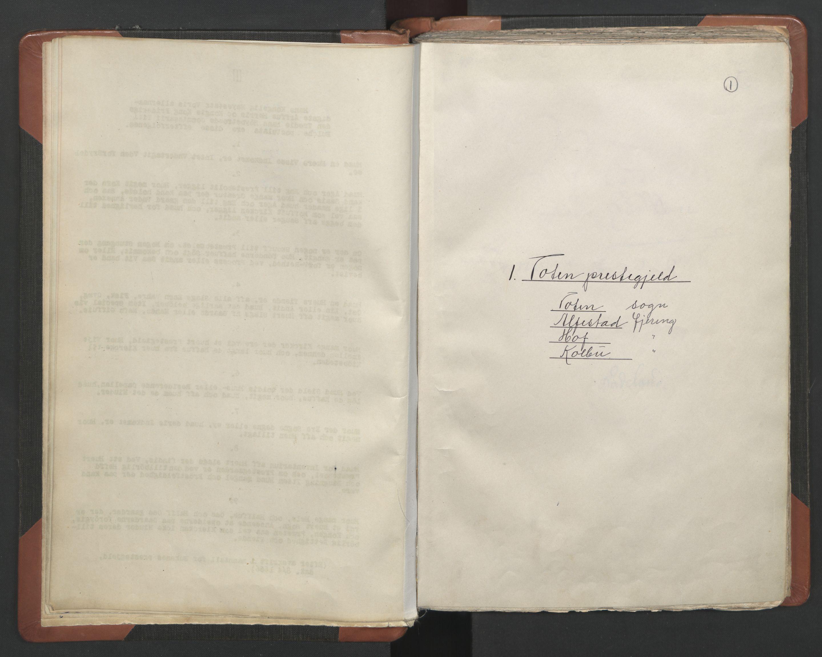 RA, Sogneprestenes manntall 1664-1666, nr. 7: Hadeland prosti, 1664-1666, s. 1