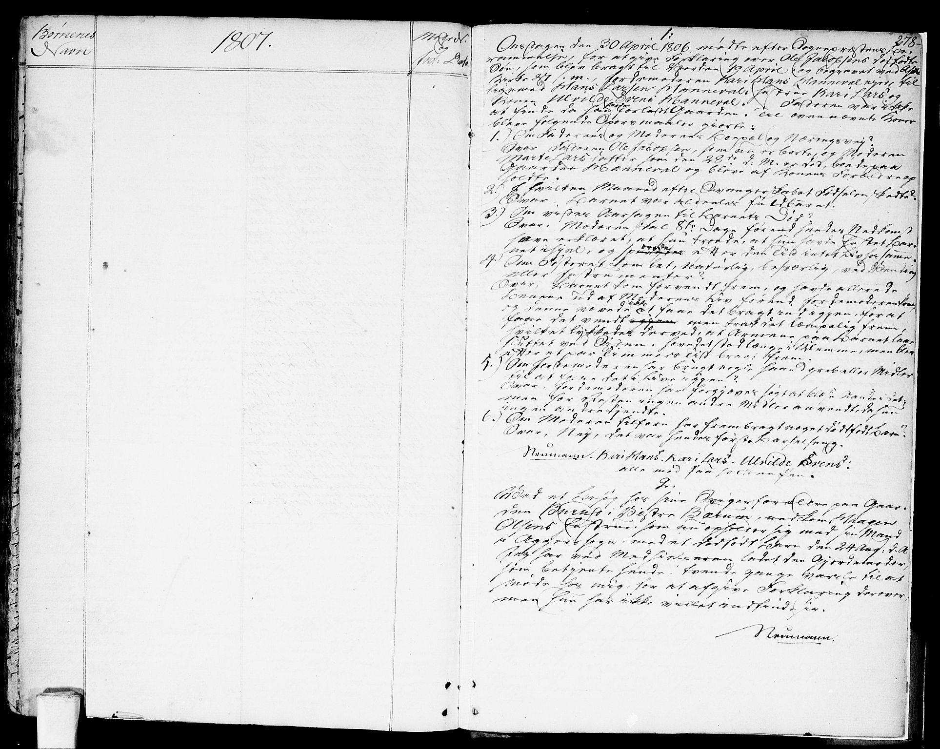 SAO, Asker prestekontor Kirkebøker, F/Fa/L0003: Ministerialbok nr. I 3, 1767-1807, s. 278