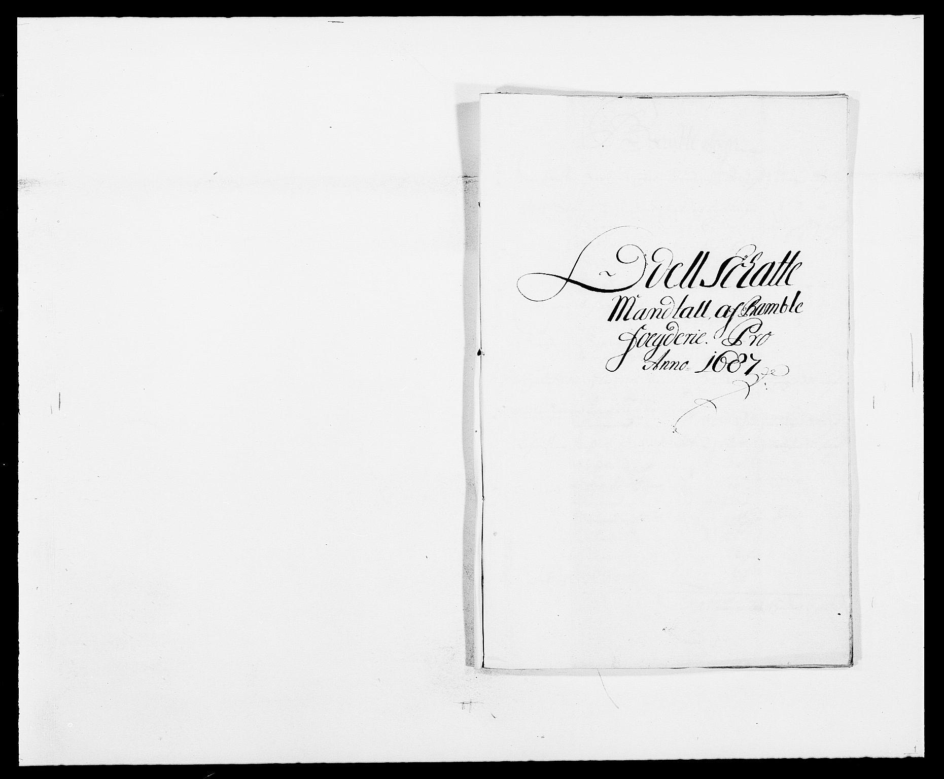 RA, Rentekammeret inntil 1814, Reviderte regnskaper, Fogderegnskap, R34/L2049: Fogderegnskap Bamble, 1685-1687, s. 272